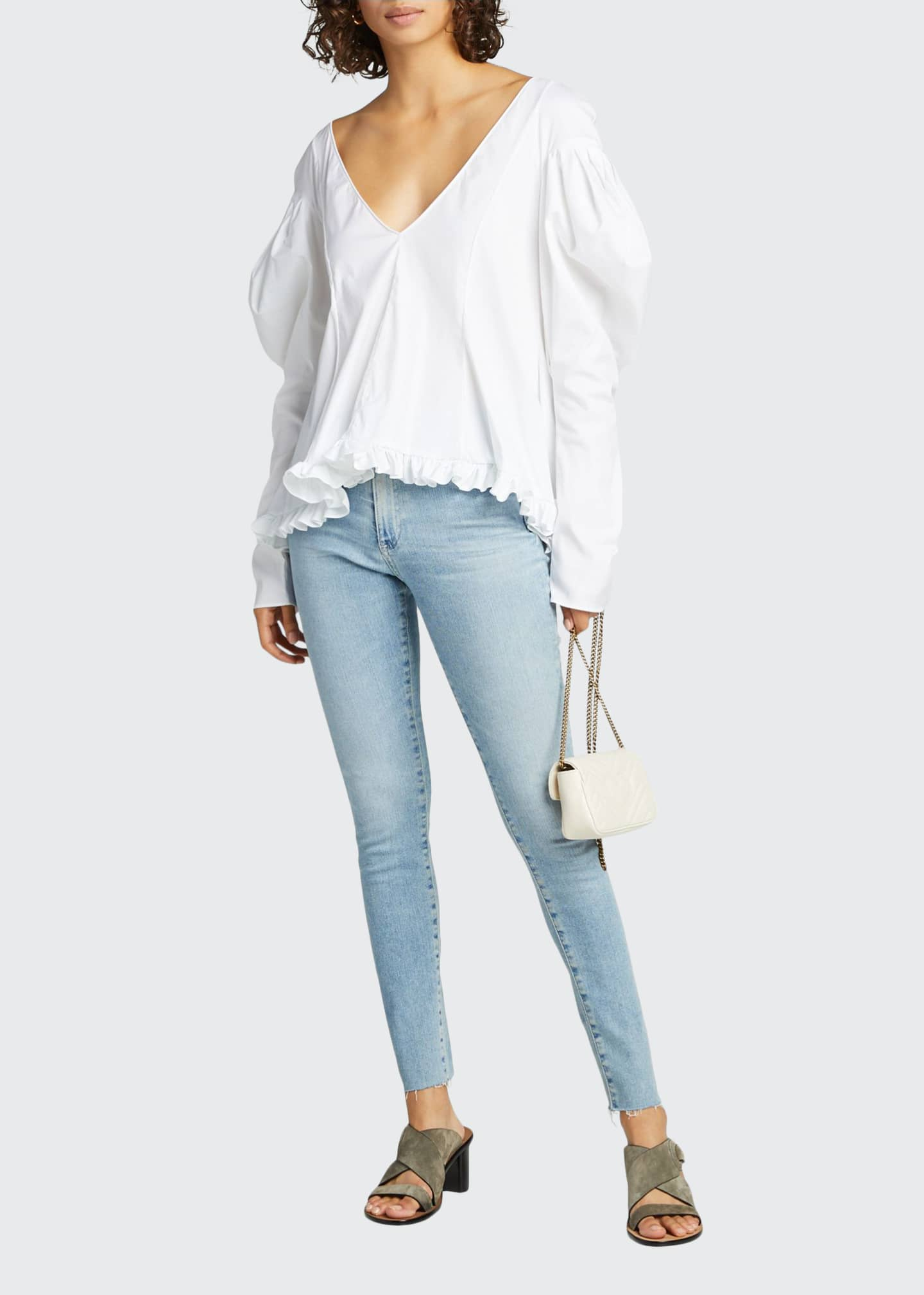 Image 1 of 5: The Farrah High-Rise Skinny Ankle Jeans