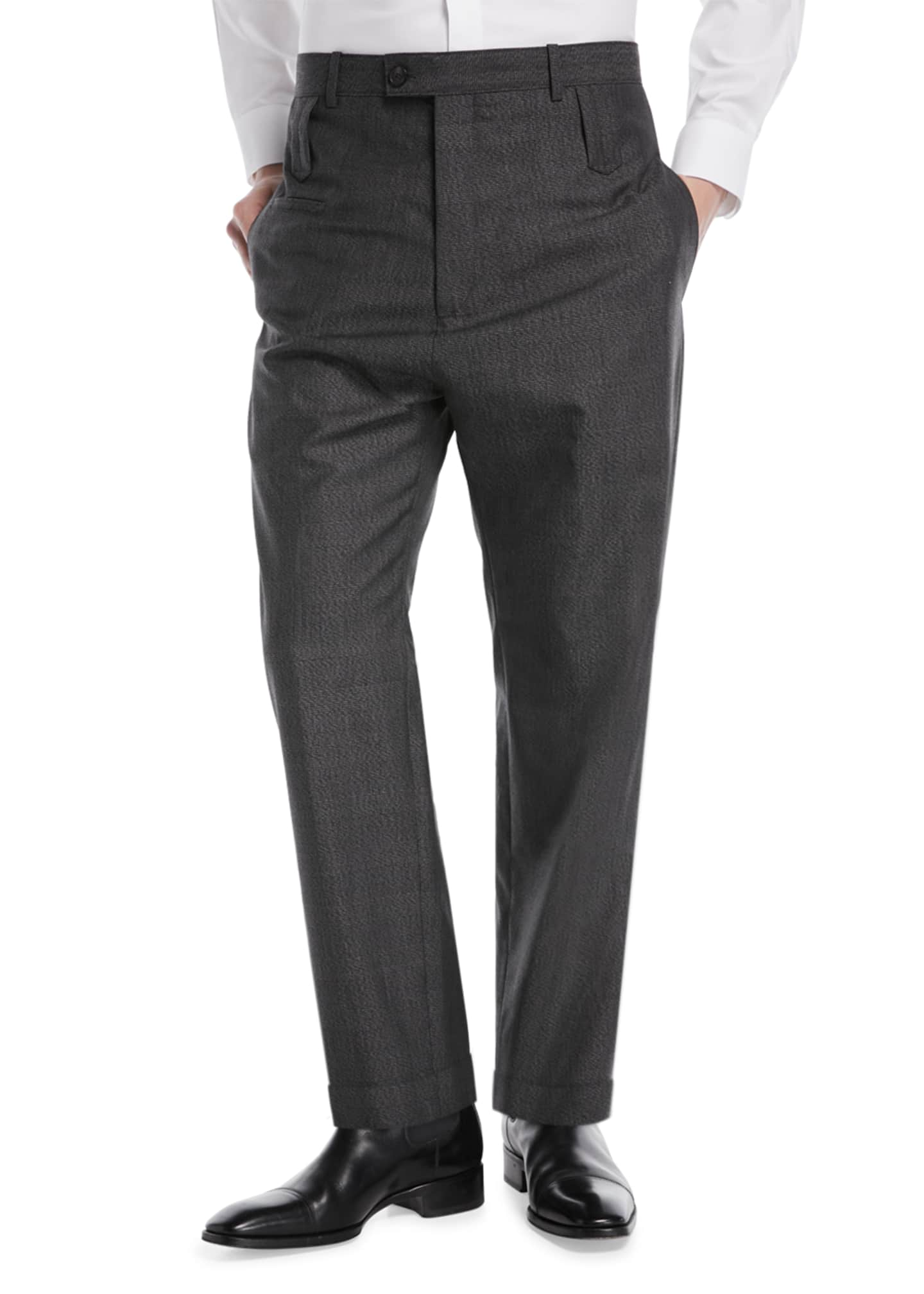 Balenciaga High-Rise Double Belt-Loop Trousers
