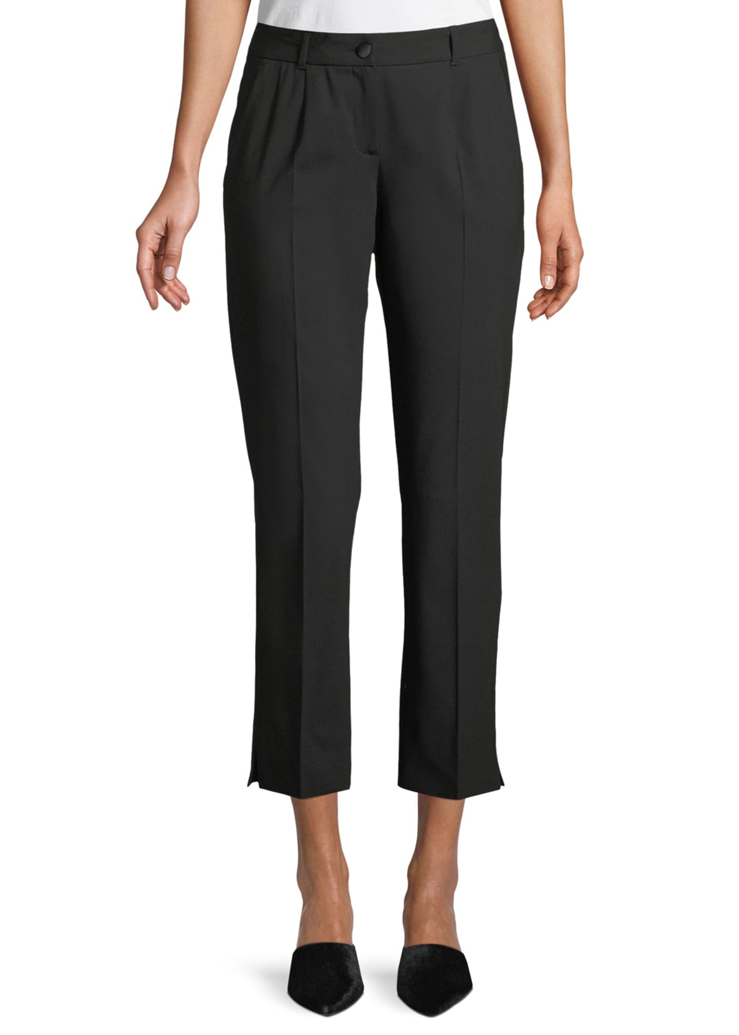 Dolce & Gabbana Kate Cropped Straight-Leg Classic Stretch-Wool