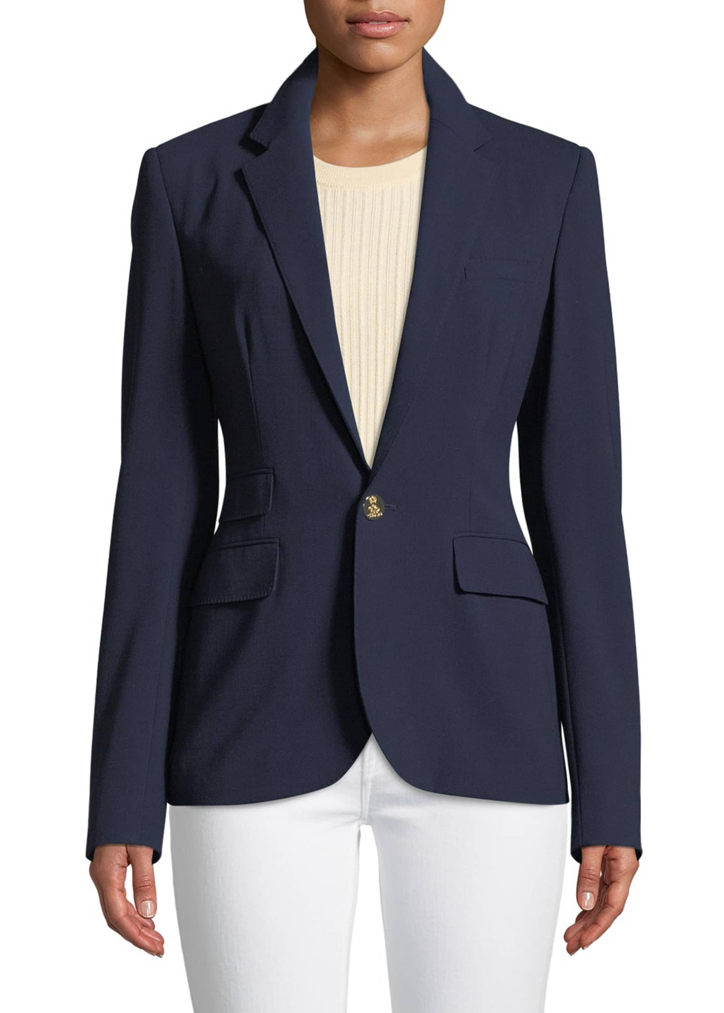 Image 3 of 3: Parker One-Button Wool Jacket