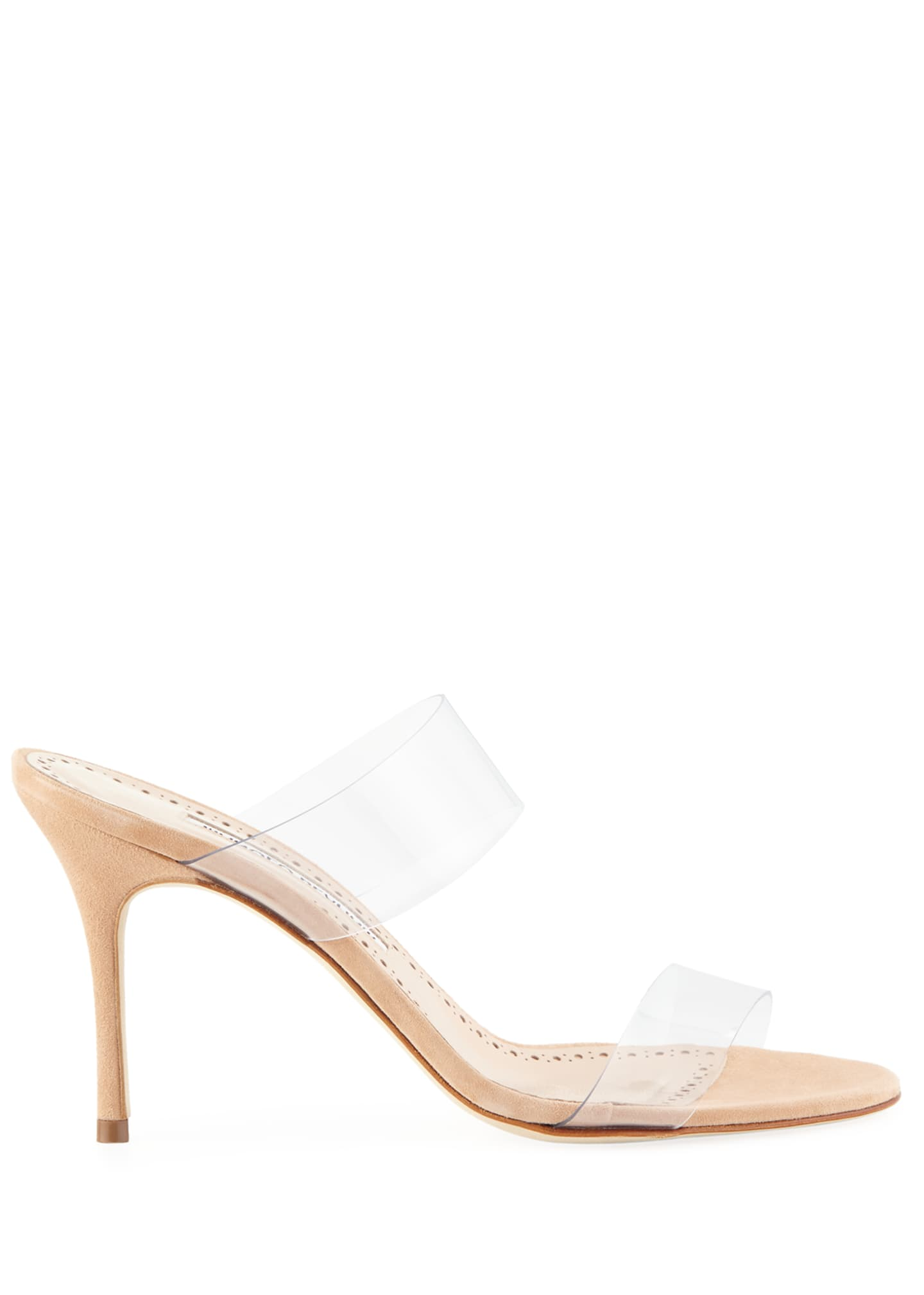Image 3 of 6: Scolto PVC Two-Strap Sandals