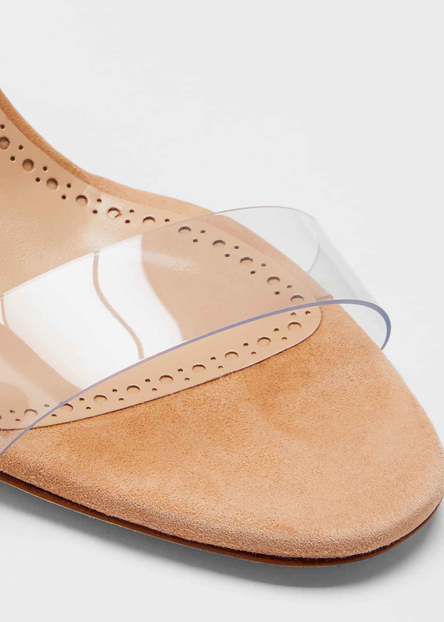 Image 6 of 6: Scolto PVC Two-Strap Sandals