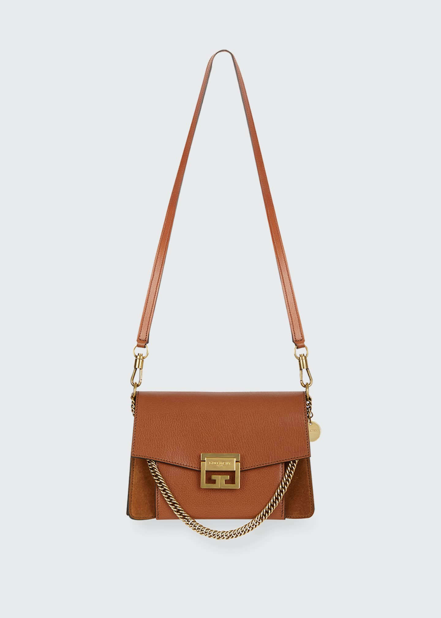 Image 5 of 5: GV3 Small Pebbled Leather Crossbody Bag