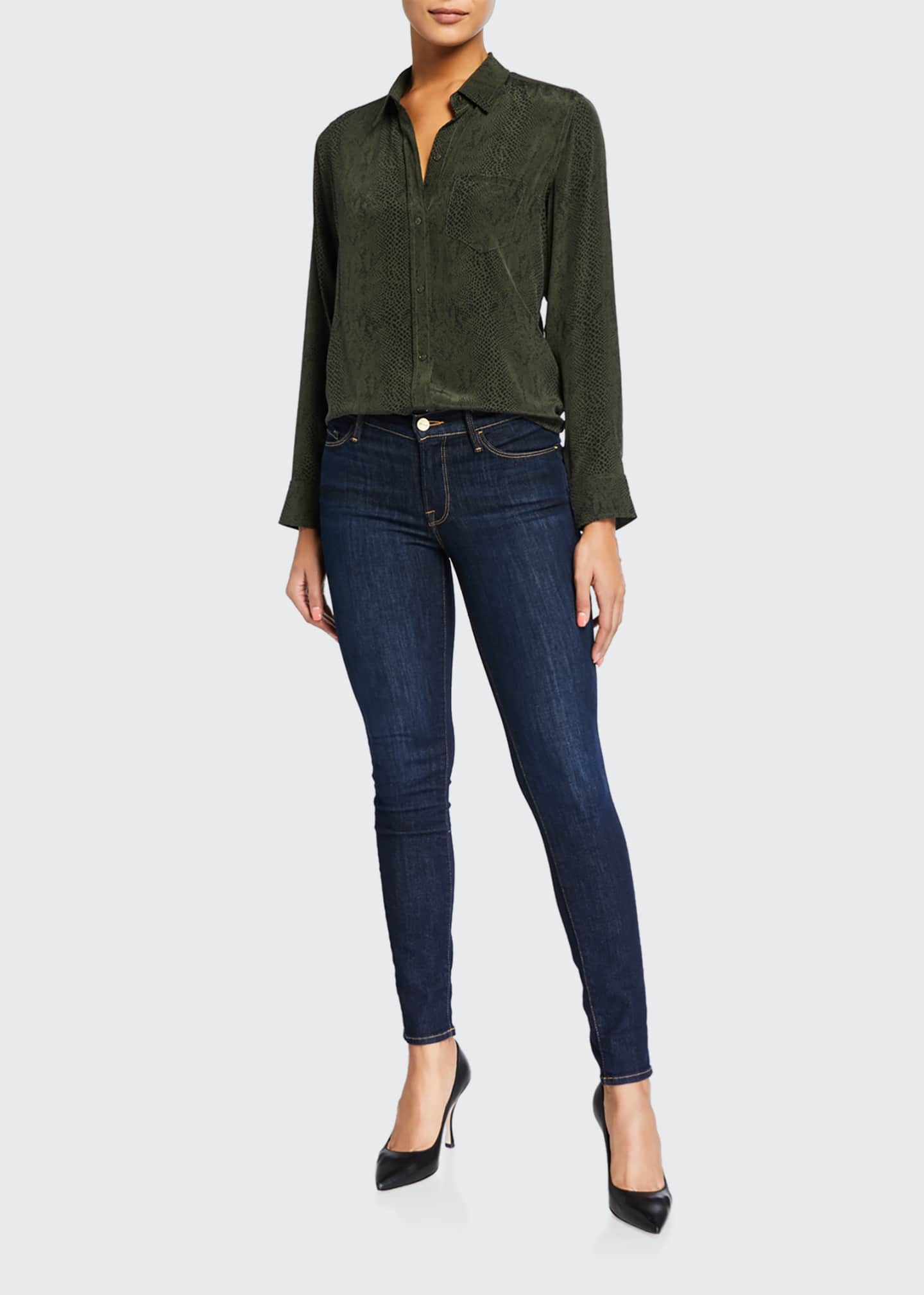 Image 3 of 5: Le Skinny de Jeanne Ankle Jeans, Huntley