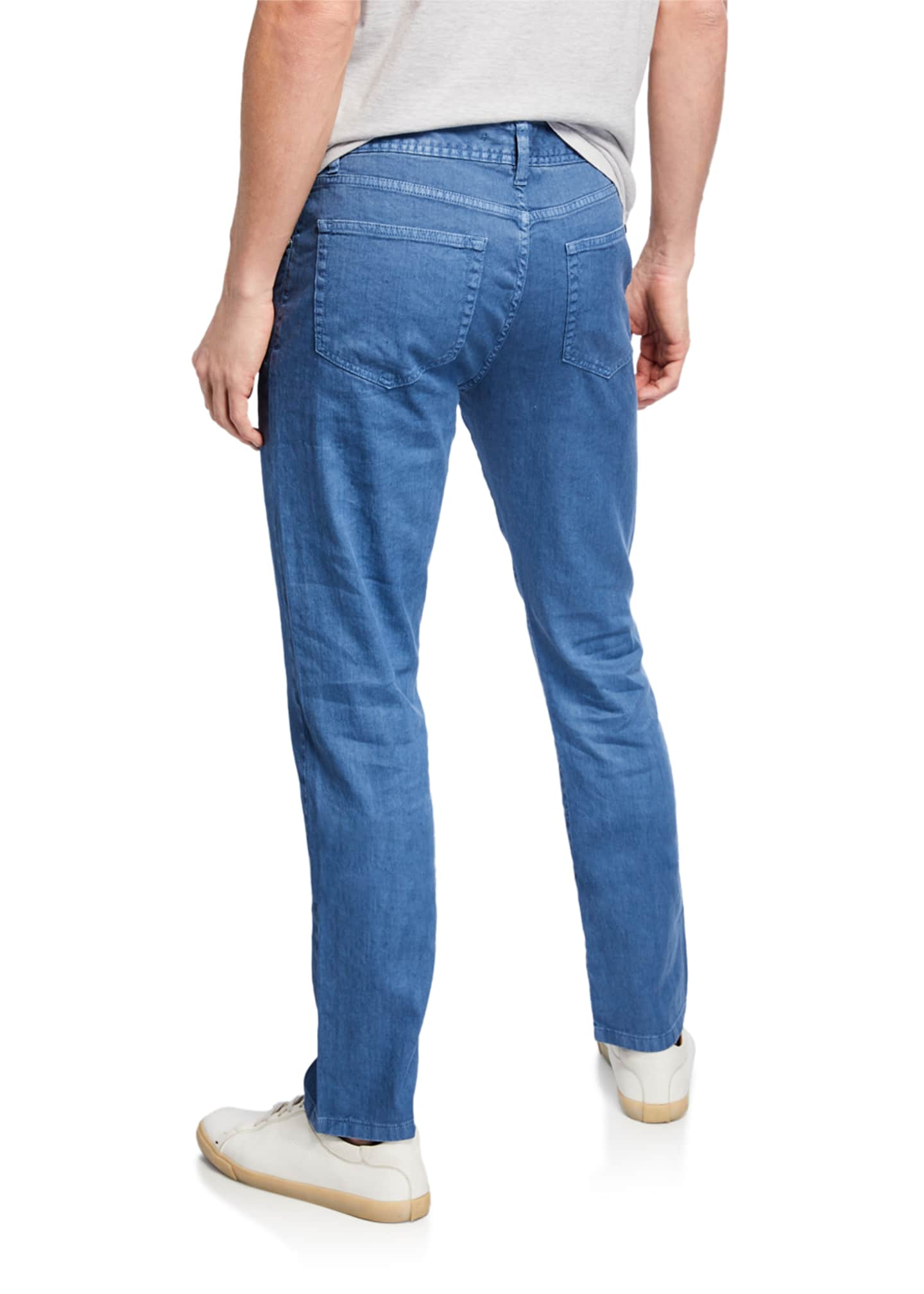 Image 2 of 2: 5-Pocket Linen-Blend Pants