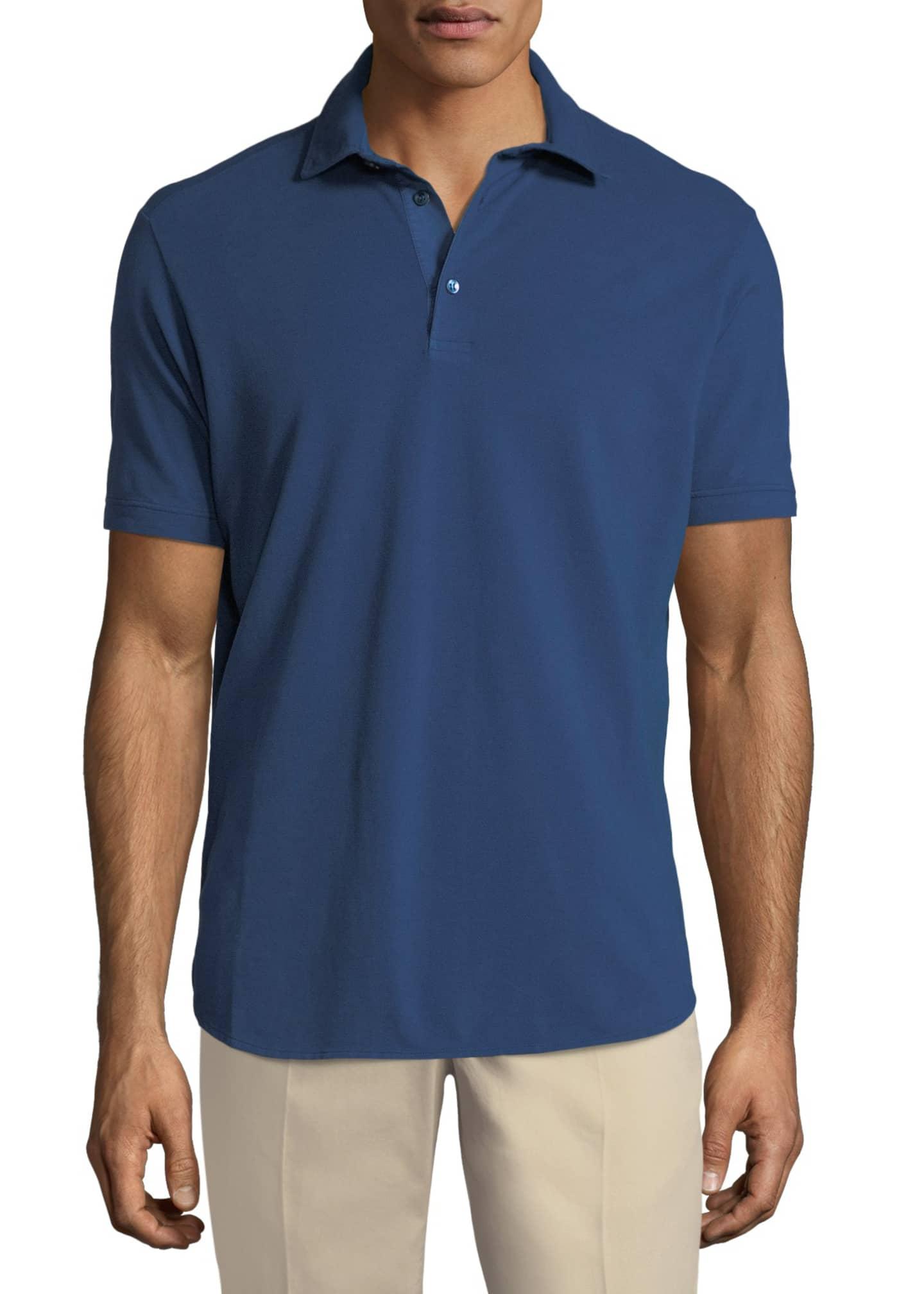Loro Piana 3-Button Cotton Polo Shirt