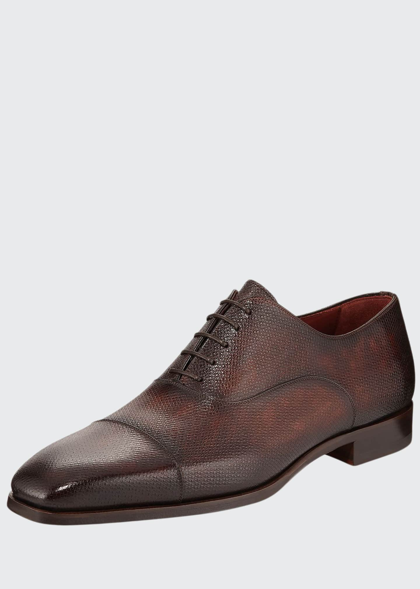 Magnanni Textured Balmoral Lace-Up Shoe