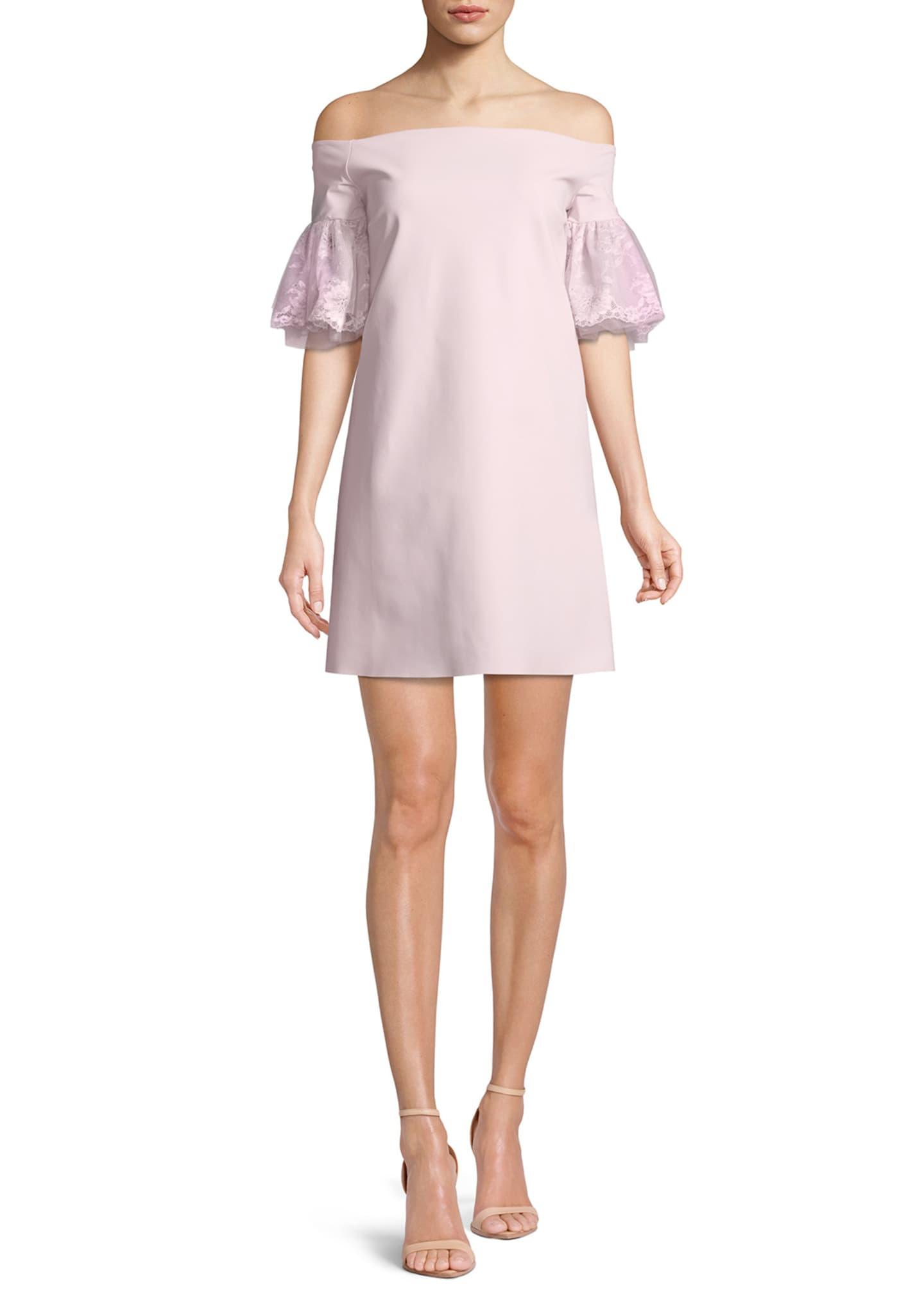 Chiara Boni La Petite Robe Joelle Lace-Sleeve Mini