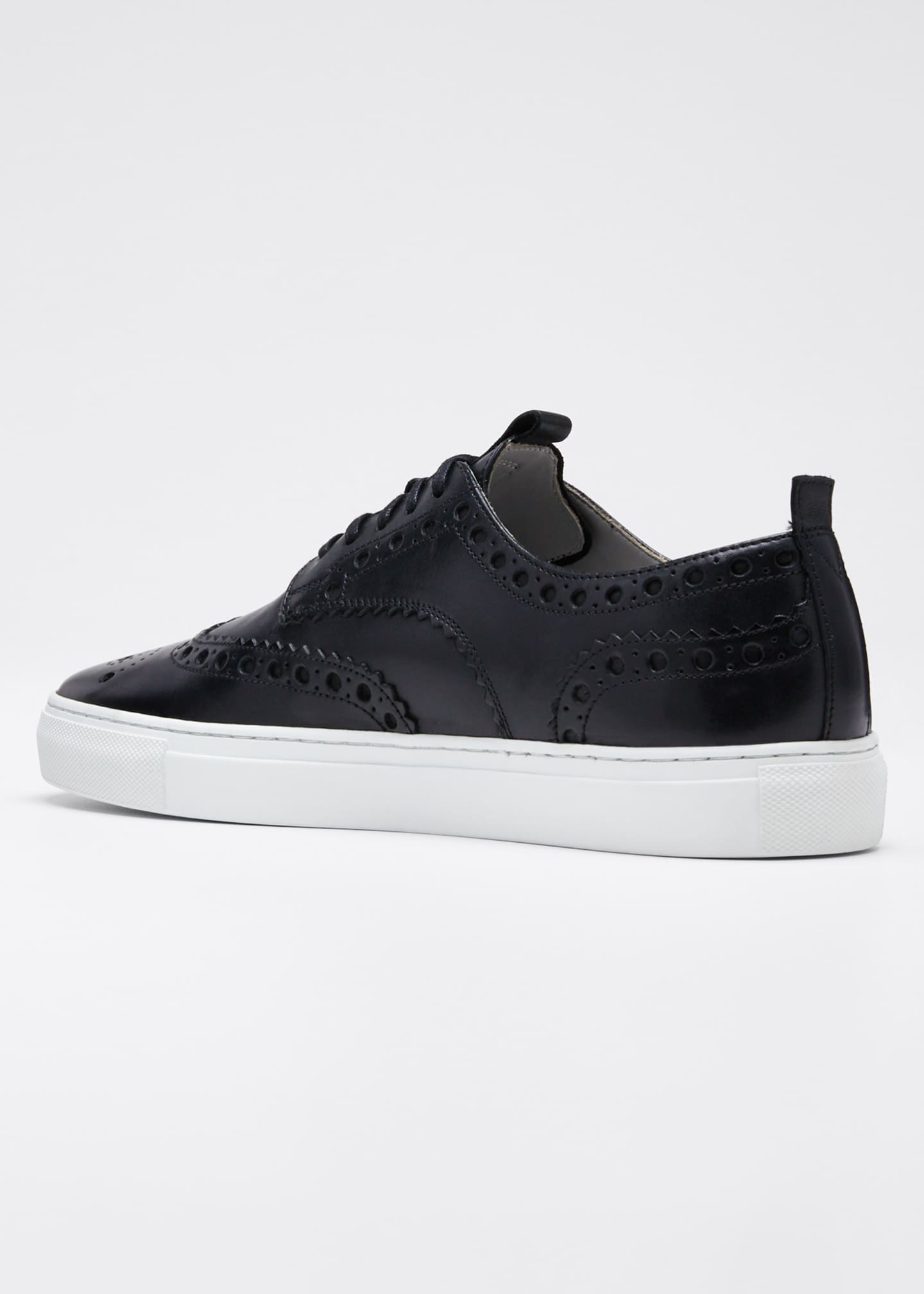 Image 2 of 3: Men's Brogue Leather Sneakers