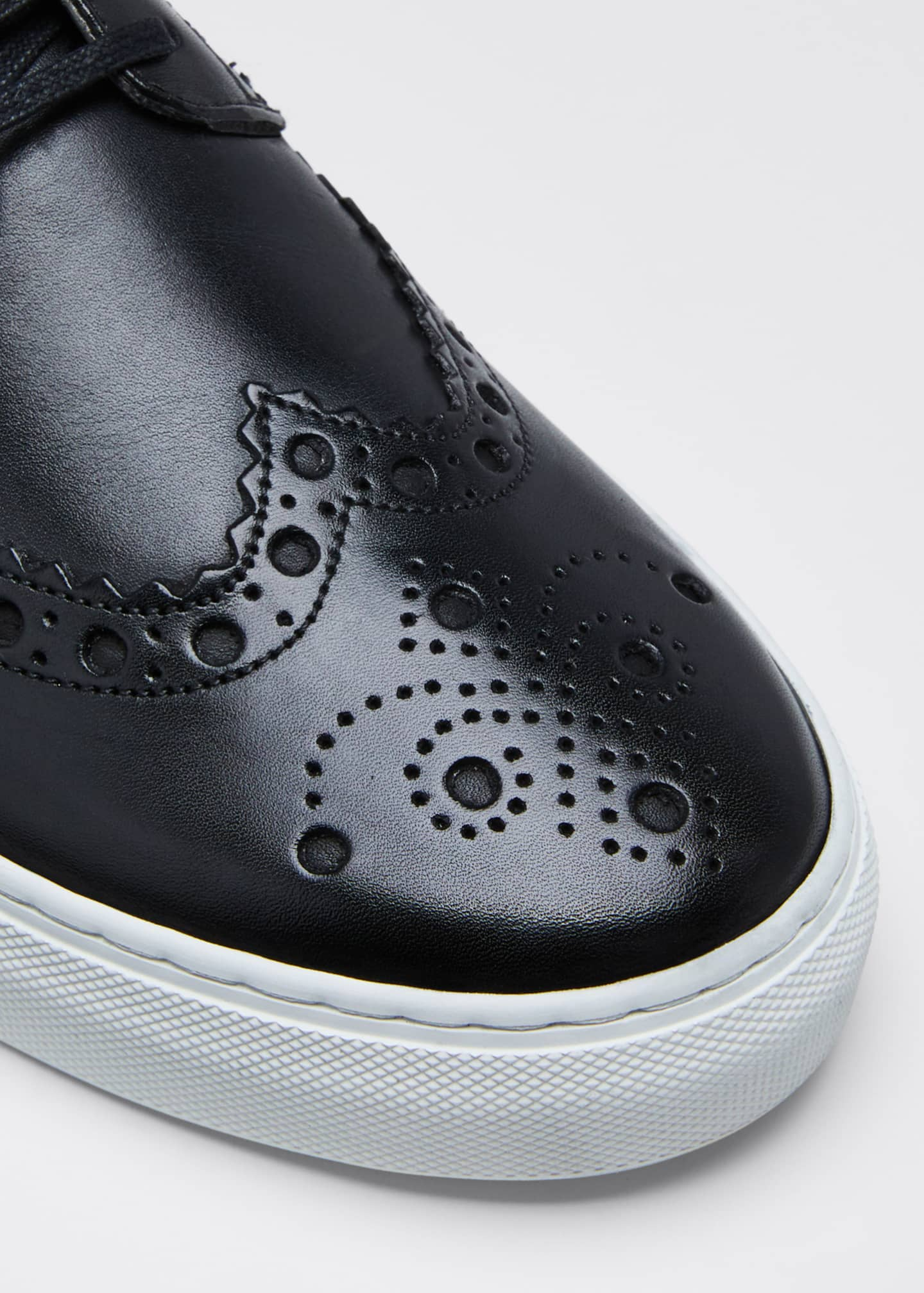 Image 3 of 3: Men's Brogue Leather Sneakers