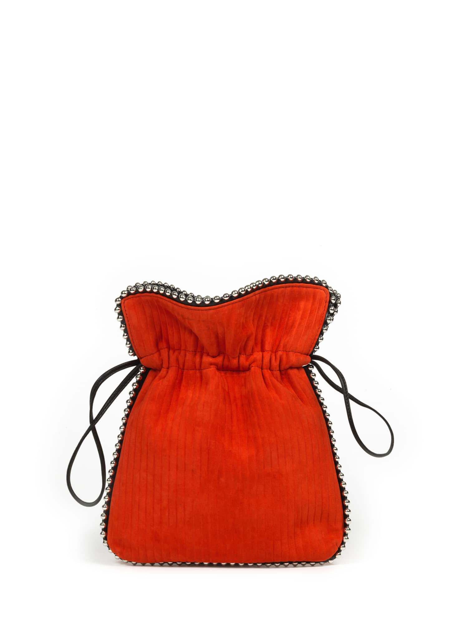 Les Petits Joueurs Trilly Beaded Suede Drawstring Pouch