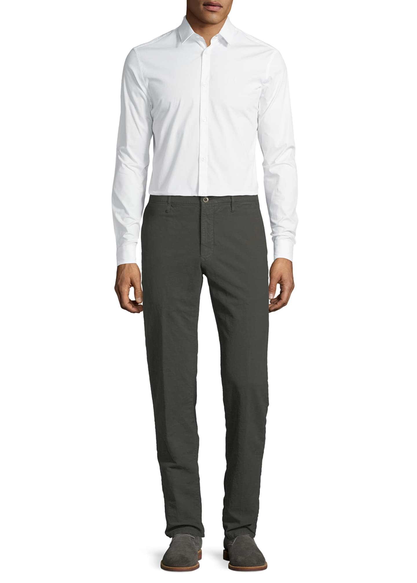 Image 3 of 3: Men's 1st Washed Chino Flat-Front Pants