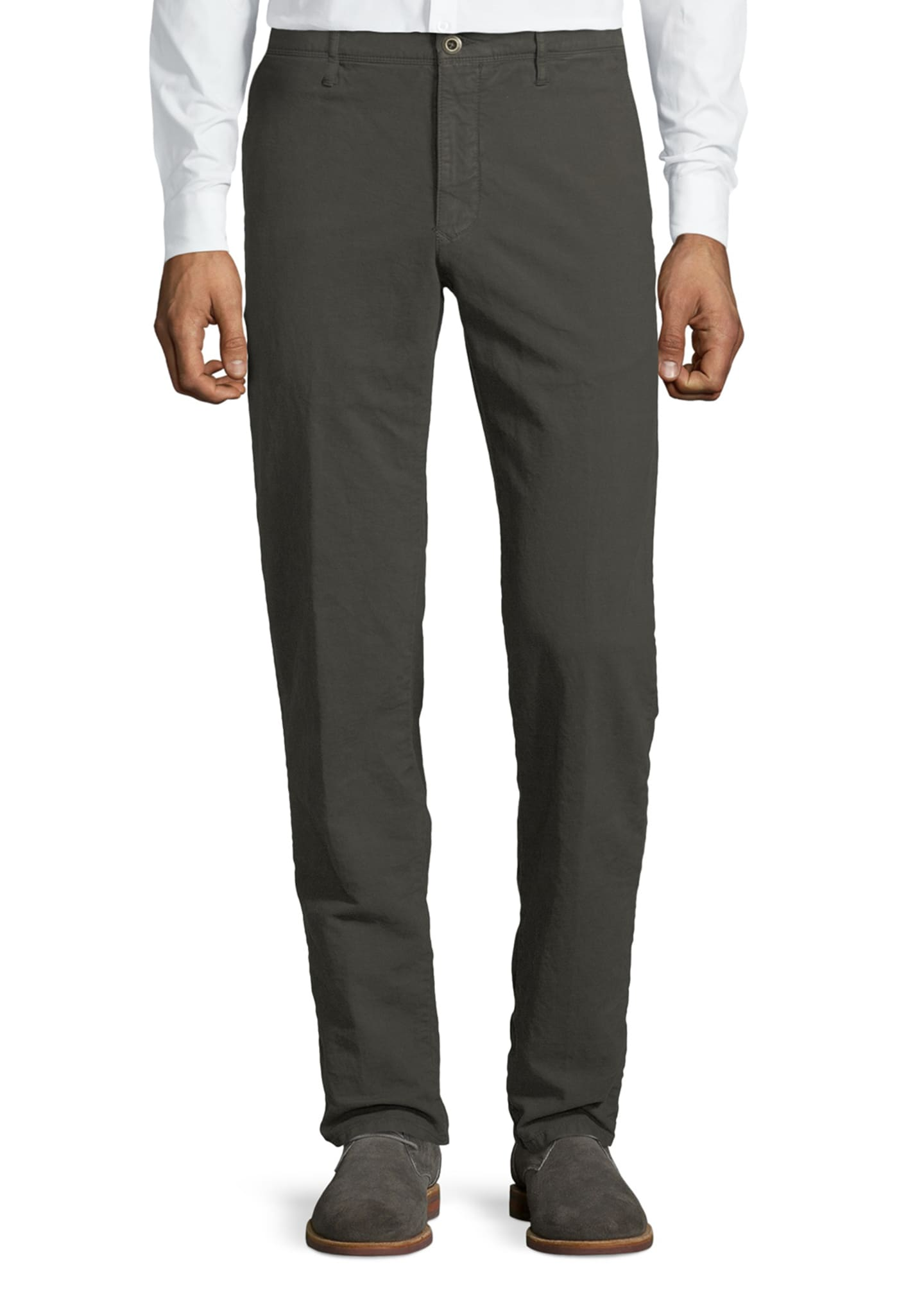 Image 1 of 3: Men's 1st Washed Chino Flat-Front Pants