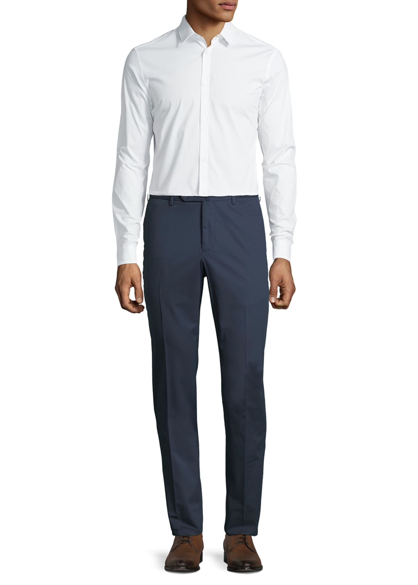 Image 3 of 3: Micky Slim-Fit Stretch-Gabardine Pants