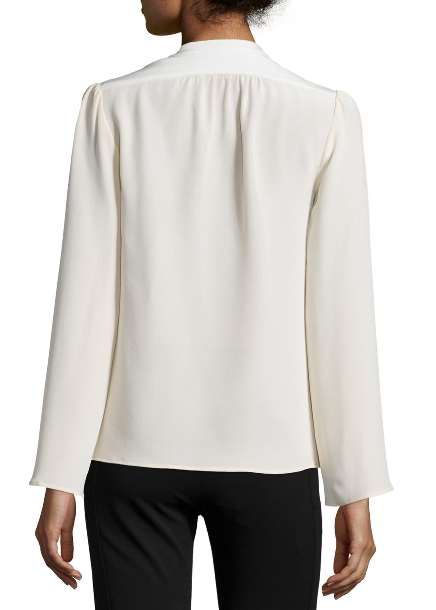 Image 2 of 3: Long-Sleeve Slim-Fit Blouse