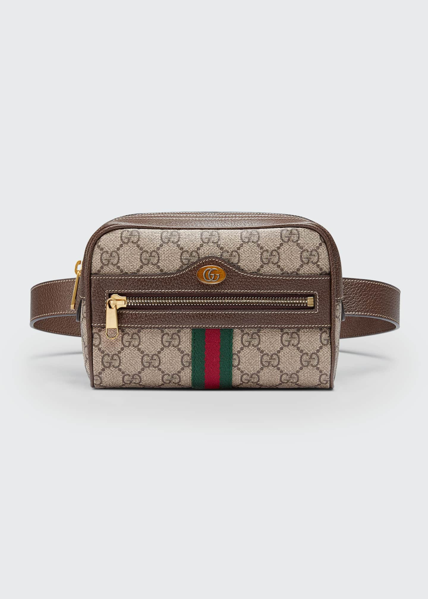 Image 1 of 4: Ophidia GG Supreme Canvas Belt Bag