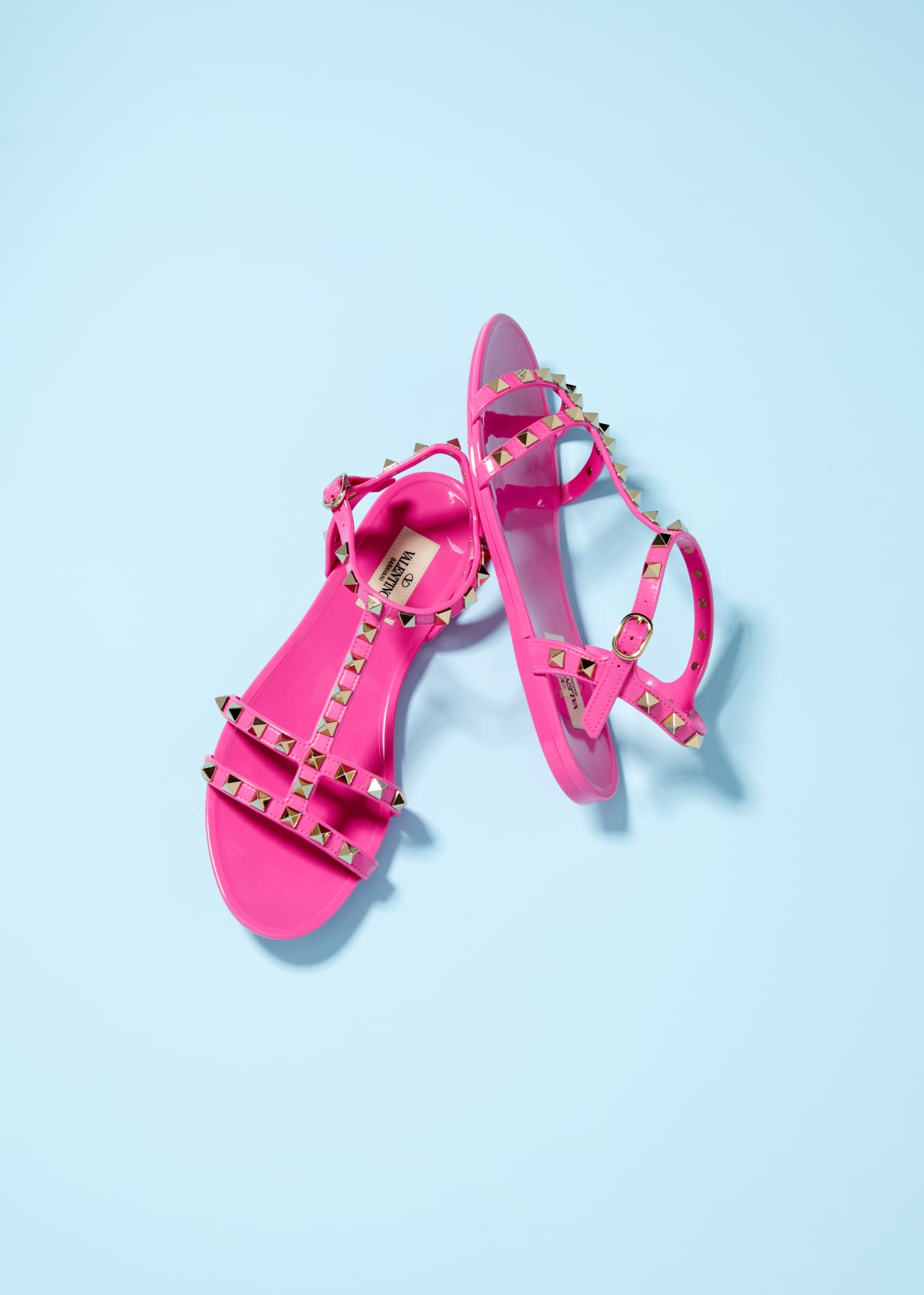 Image 2 of 4: Rockstud Jelly Flat Gladiator Sandals