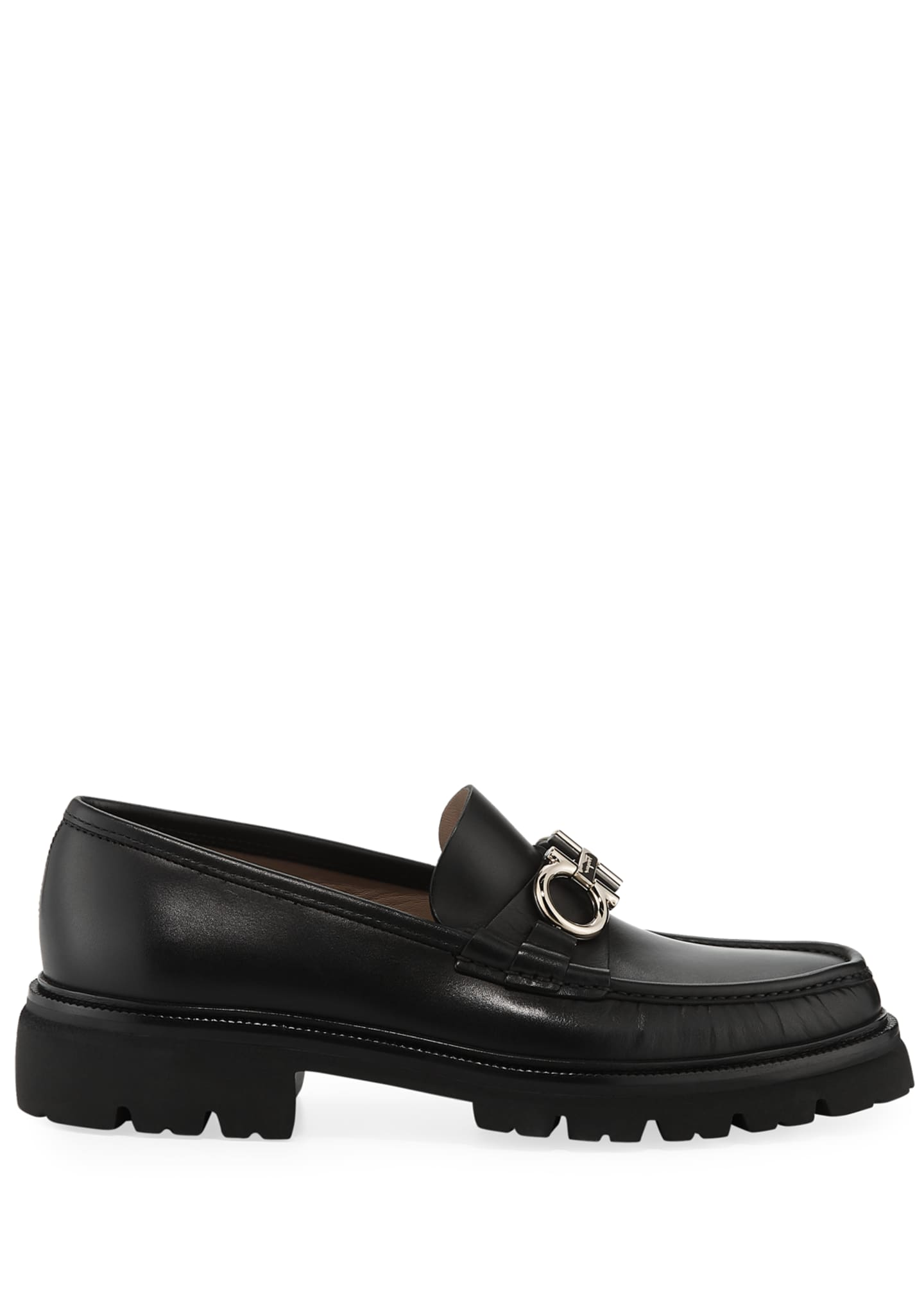 Image 3 of 3: Men's Bleecker Leather Lug-Sole Loafers with Reversible Bit