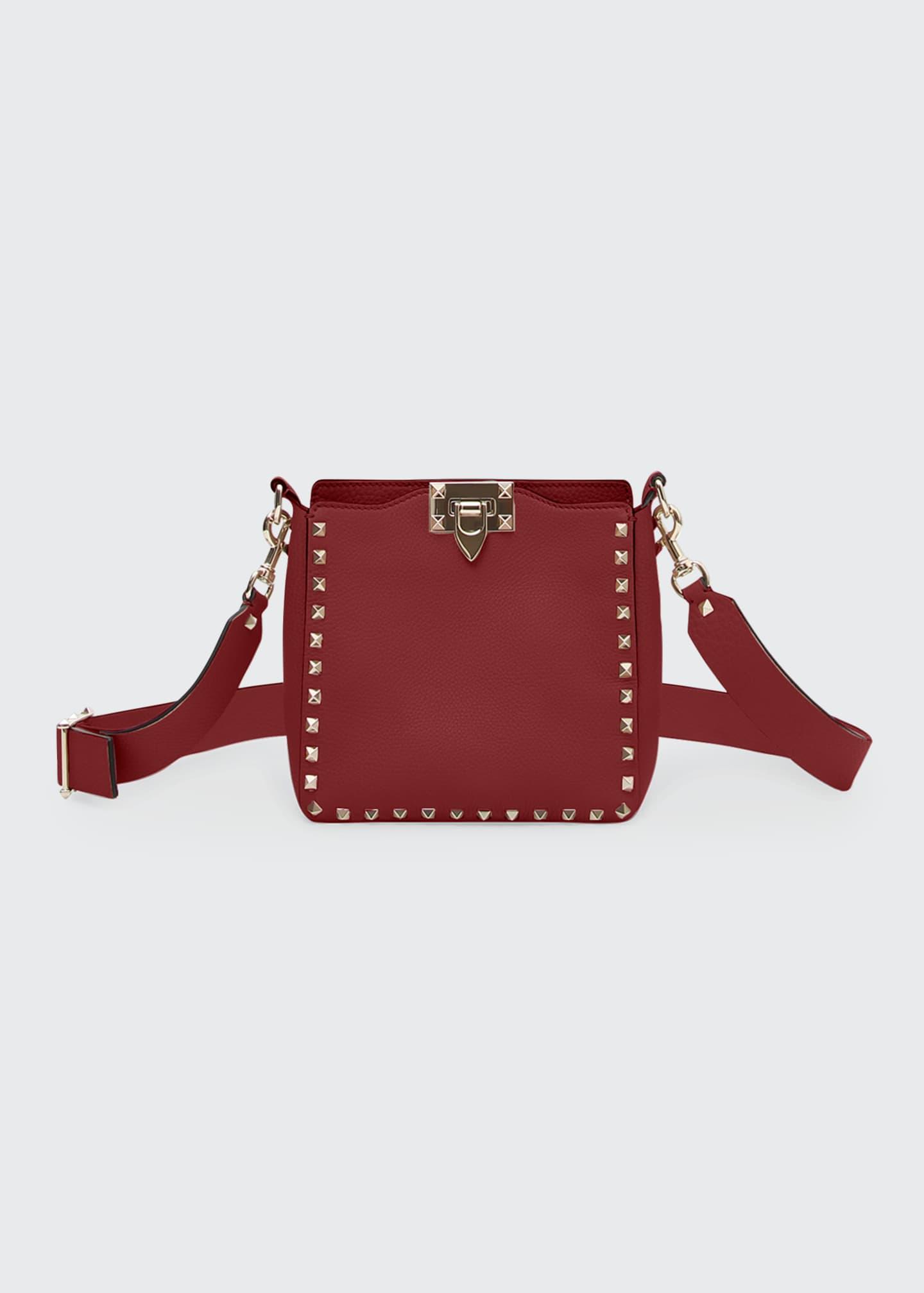 Valentino Garavani Rockstud Mini Vitello Stampa Leather Hobo