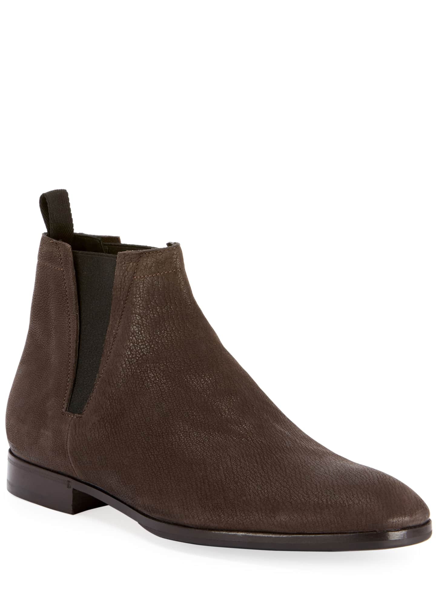 Berluti Men's Caractere Eclair Calf Suede Leather Boot