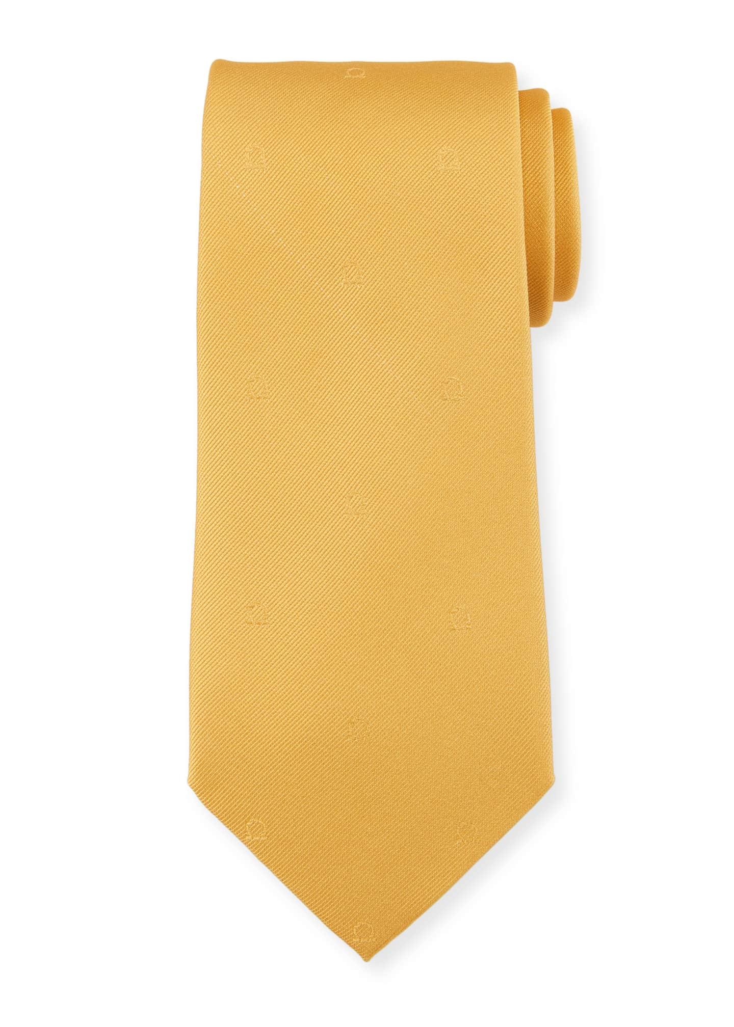 Salvatore Ferragamo Eston Solid Silk Tie, Yellow