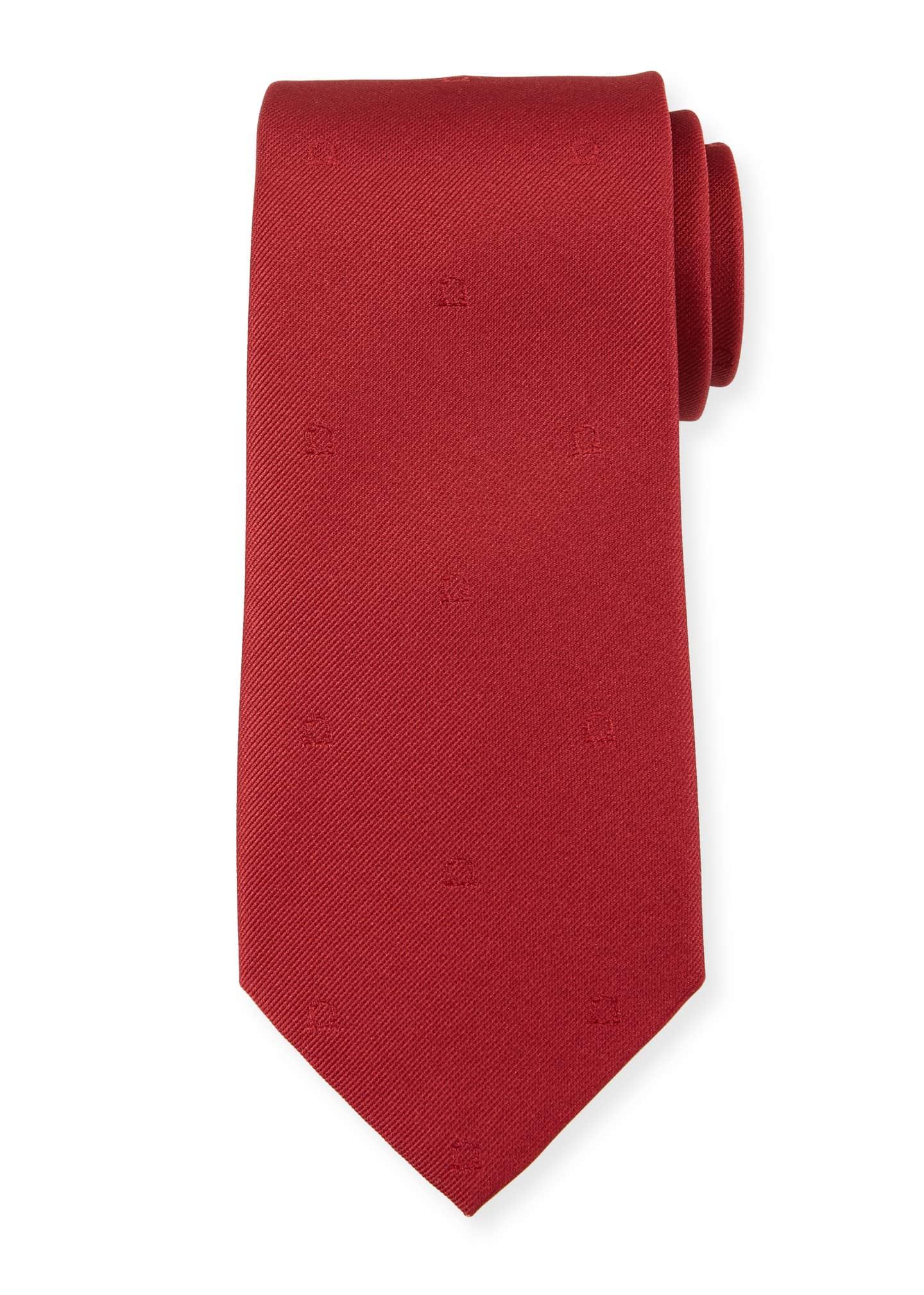 Salvatore Ferragamo Eston Solid Silk Tie, Red