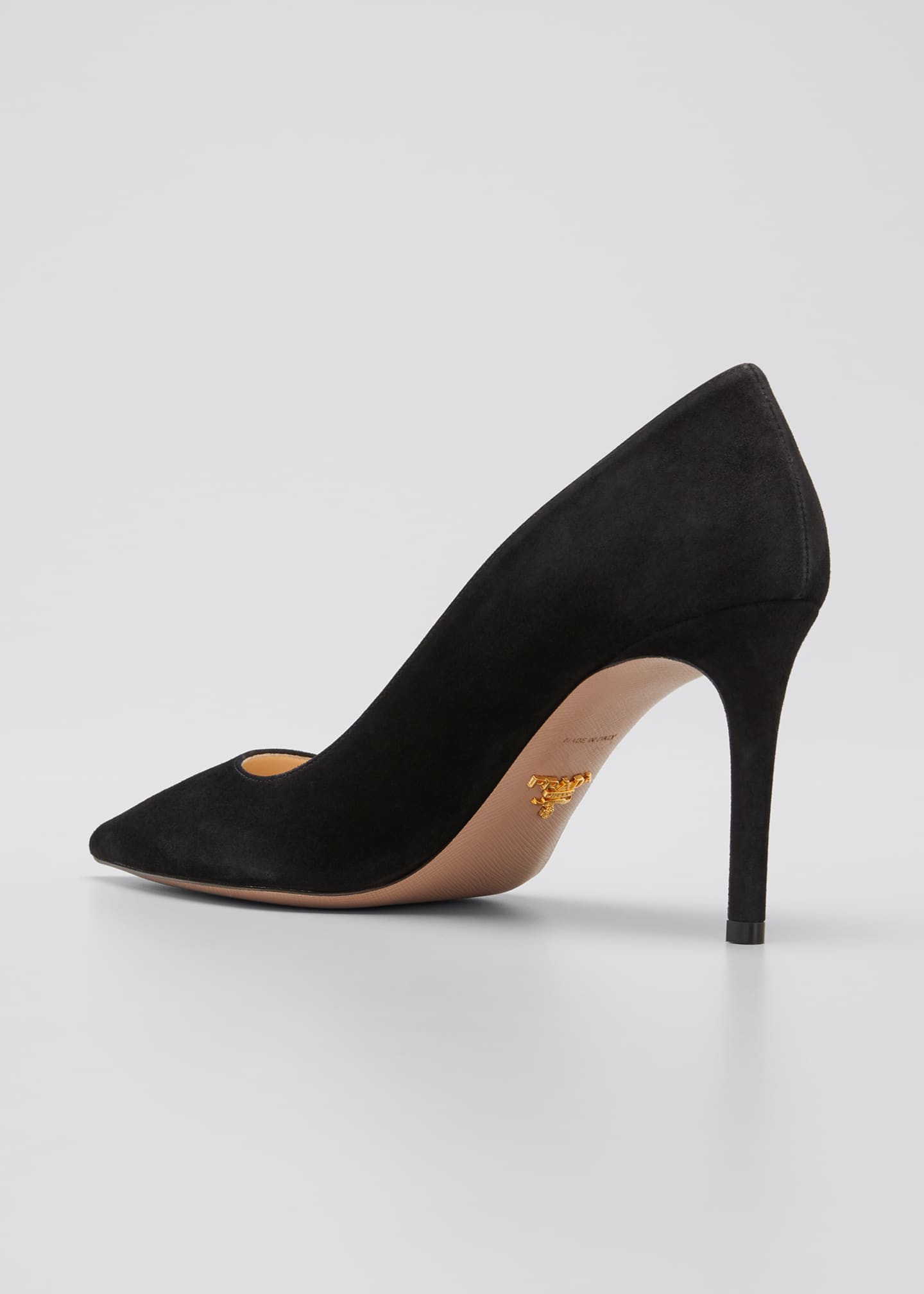 Image 4 of 5: Suede Stiletto 85mm Pumps