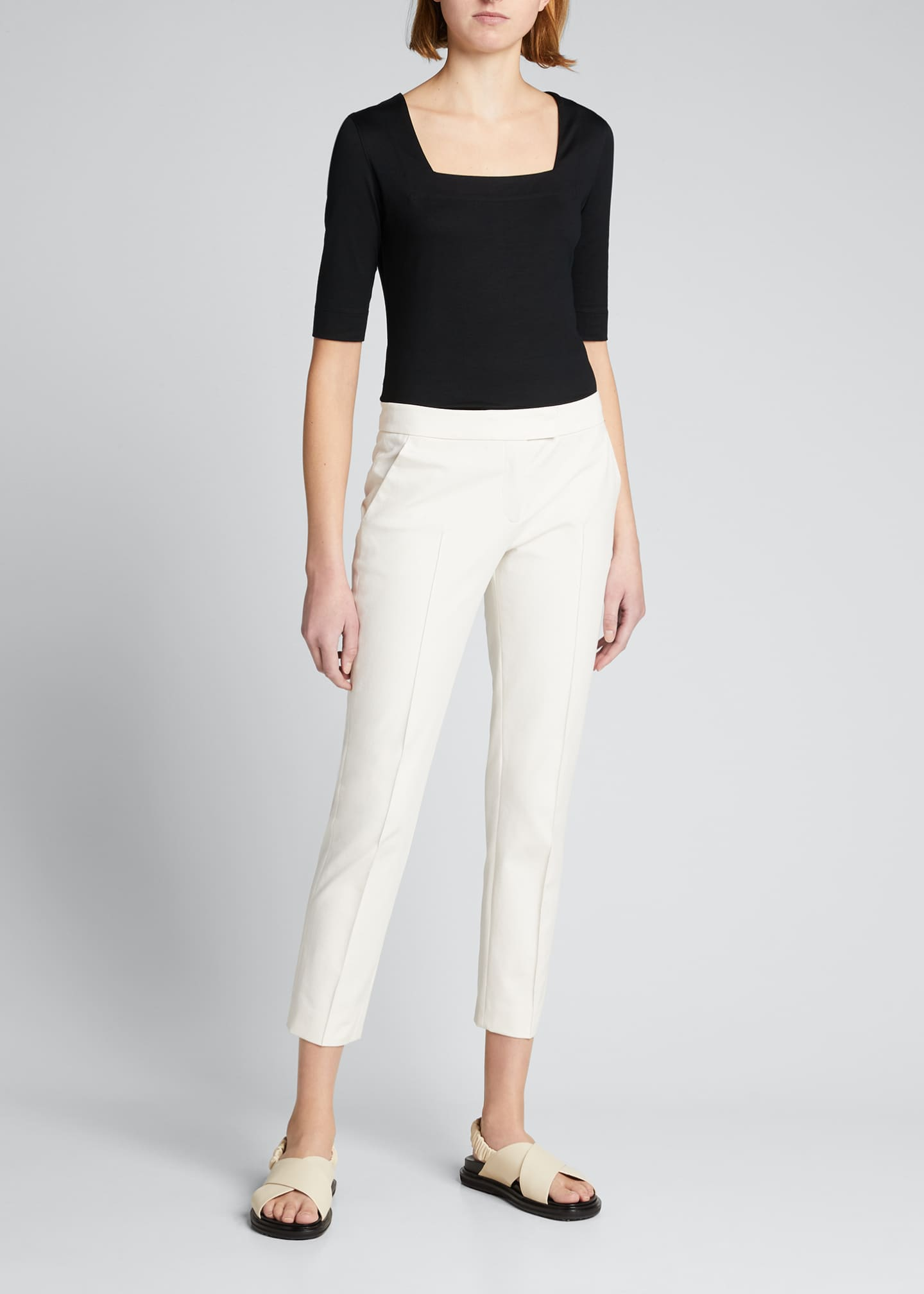 Image 1 of 2: Frankie Stretch-Cotton Pants