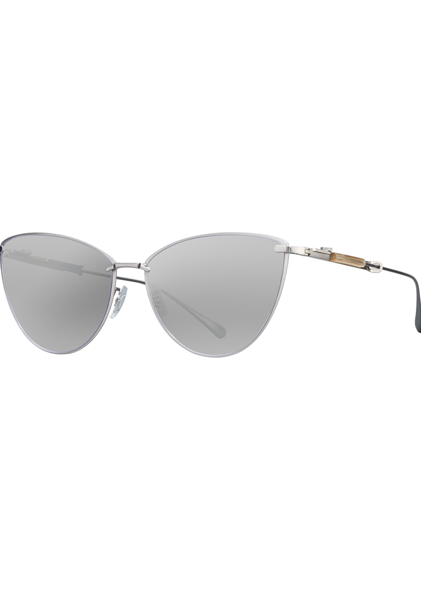 Mr. Leight Platinum Plated Titanium Cat-Eye Sunglasses,