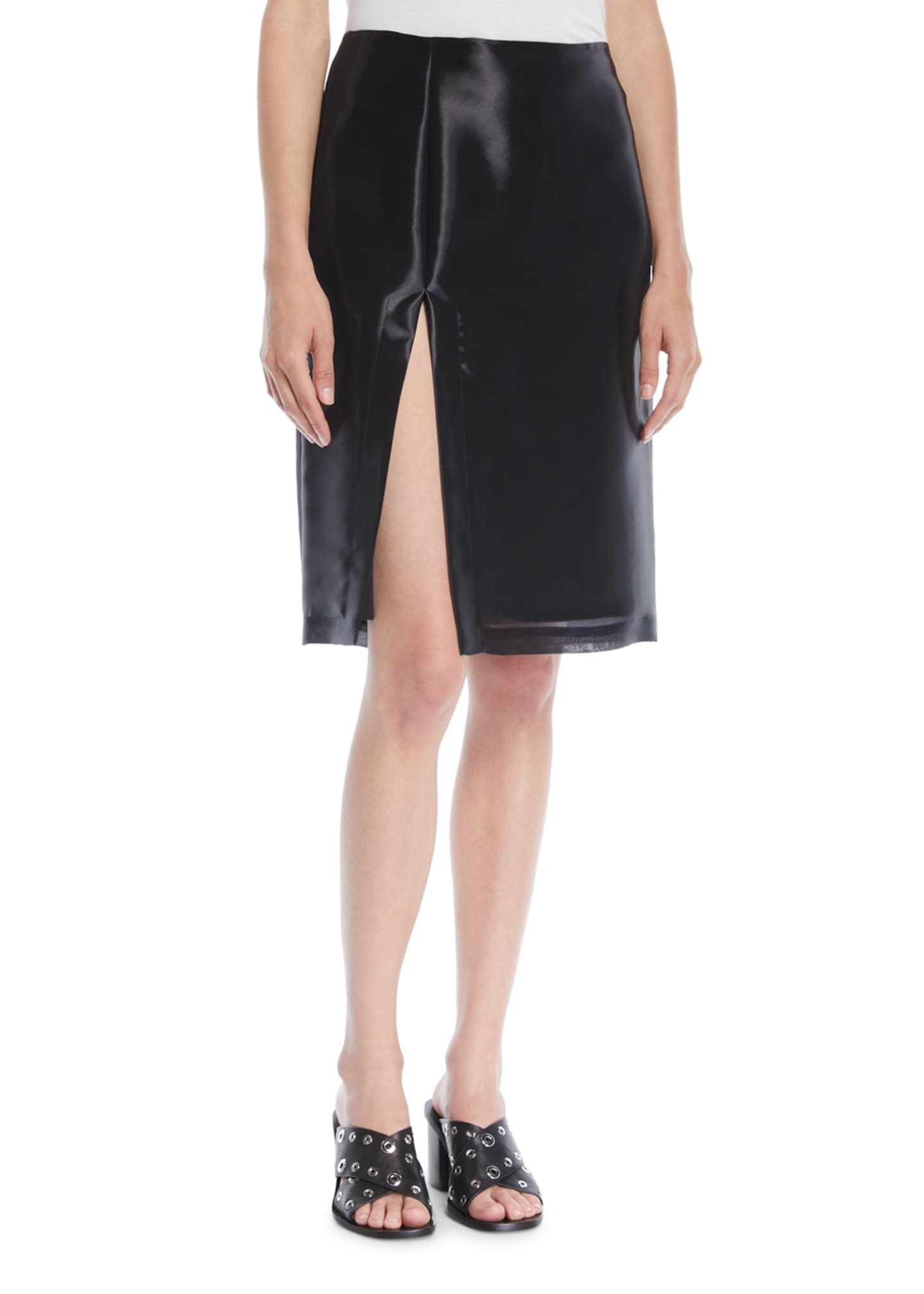 Helmut Lang Shayne Oliver Split Knee-Length Skirt