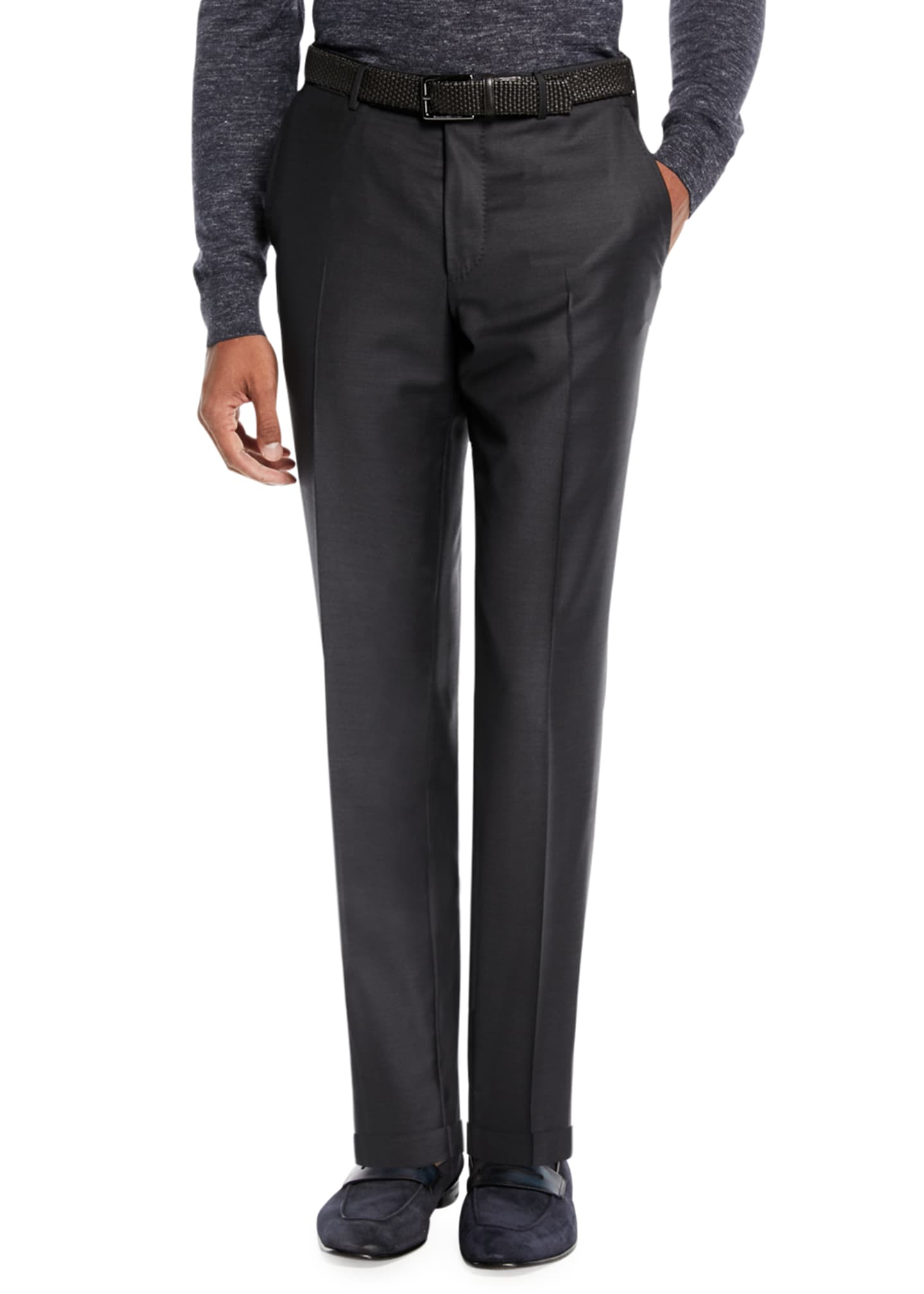 Ermenegildo Zegna Men's Trofeo® Wool Trousers