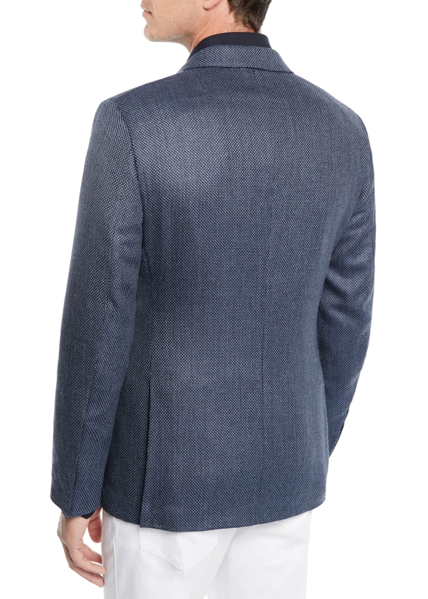 Image 2 of 3: Men's Tic Wool-Silk Jacket