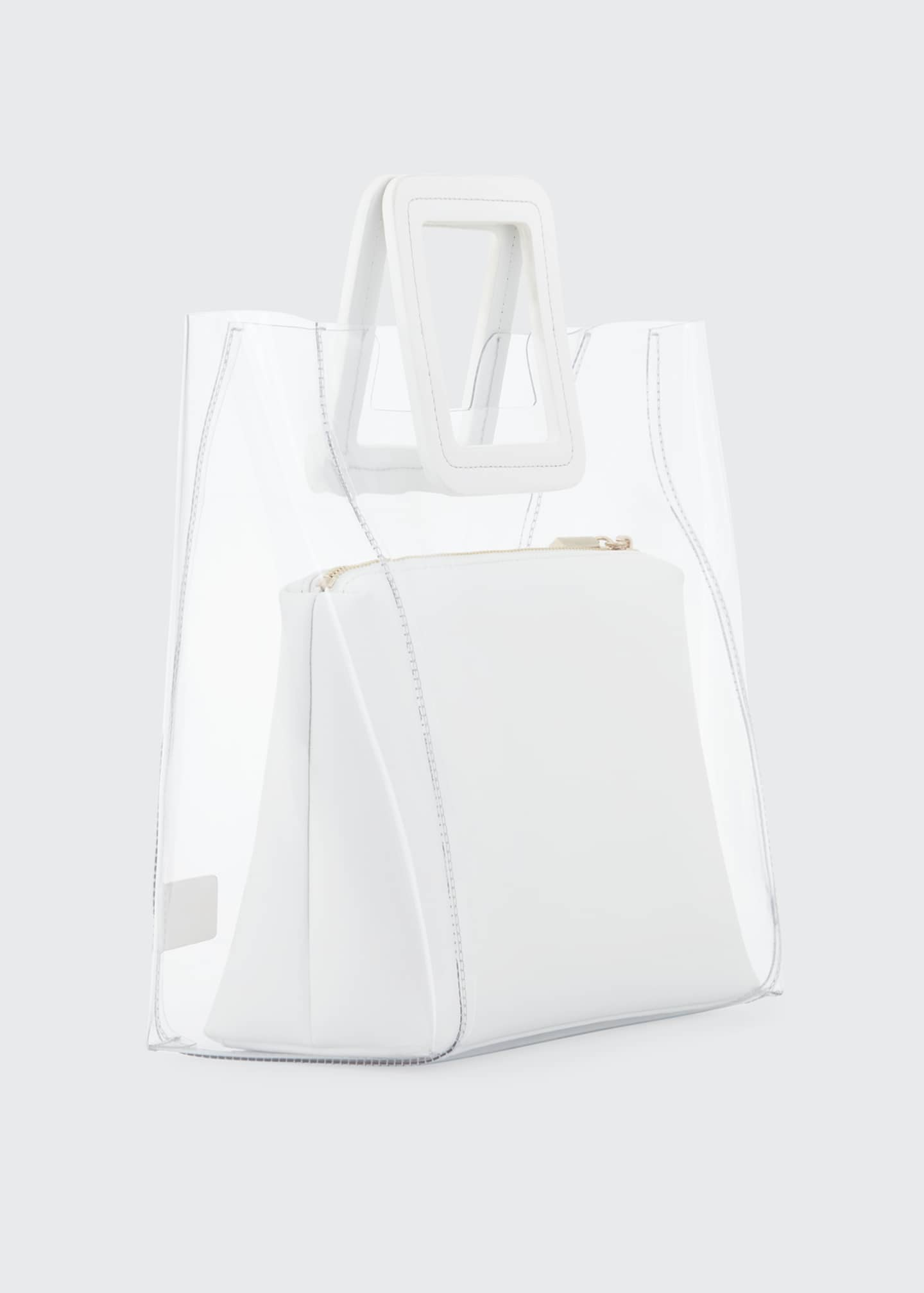 Image 3 of 3: Shirley PVC and Leather Tote Bag