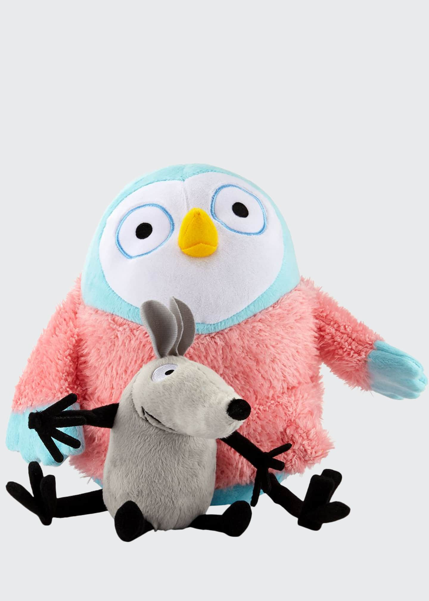 Image 1 of 1: Greg Pizzoli's Owl and Noise Soft Toy Pair