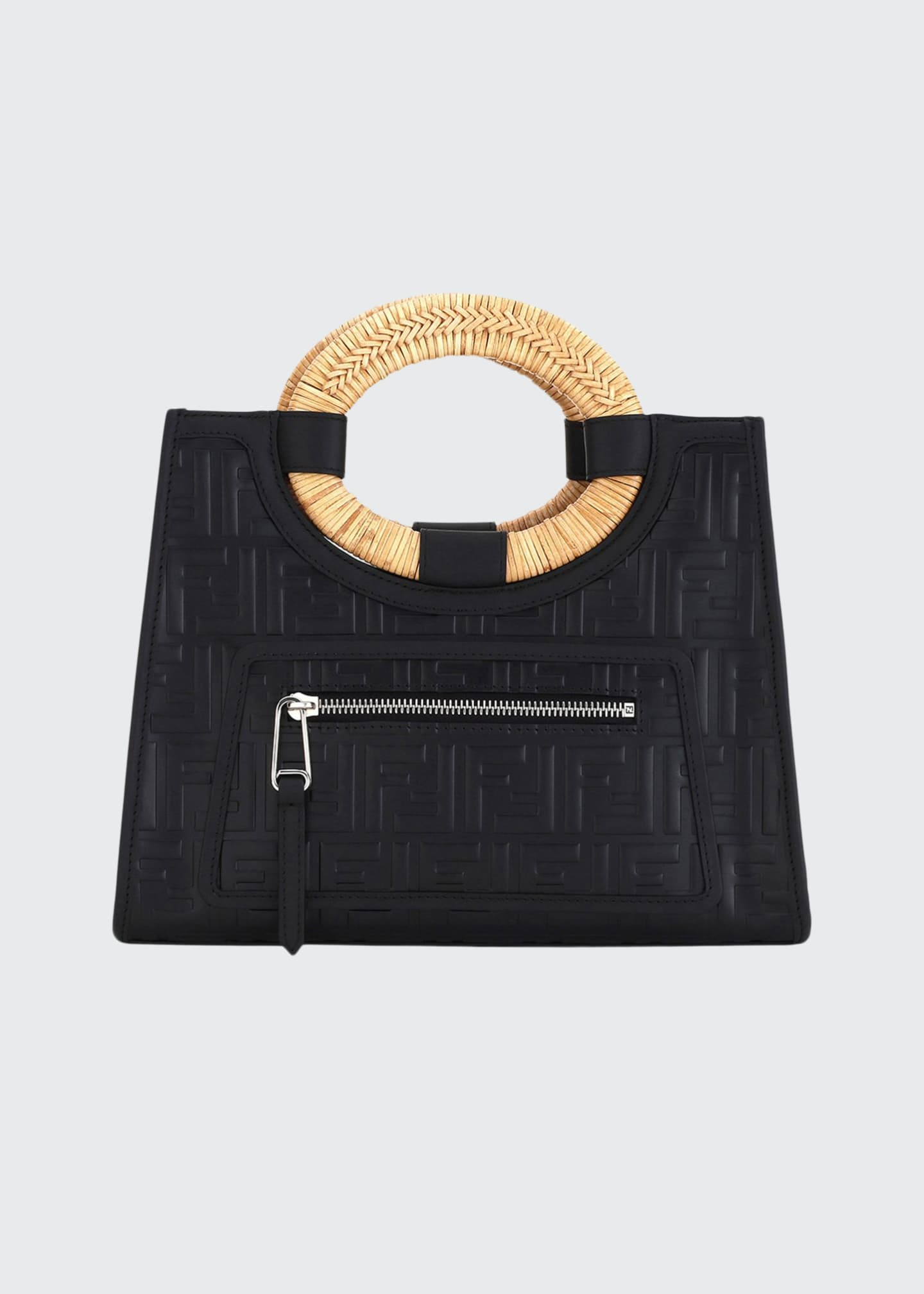 Fendi Runaway Small FF Embossed Calf Shopping Tote