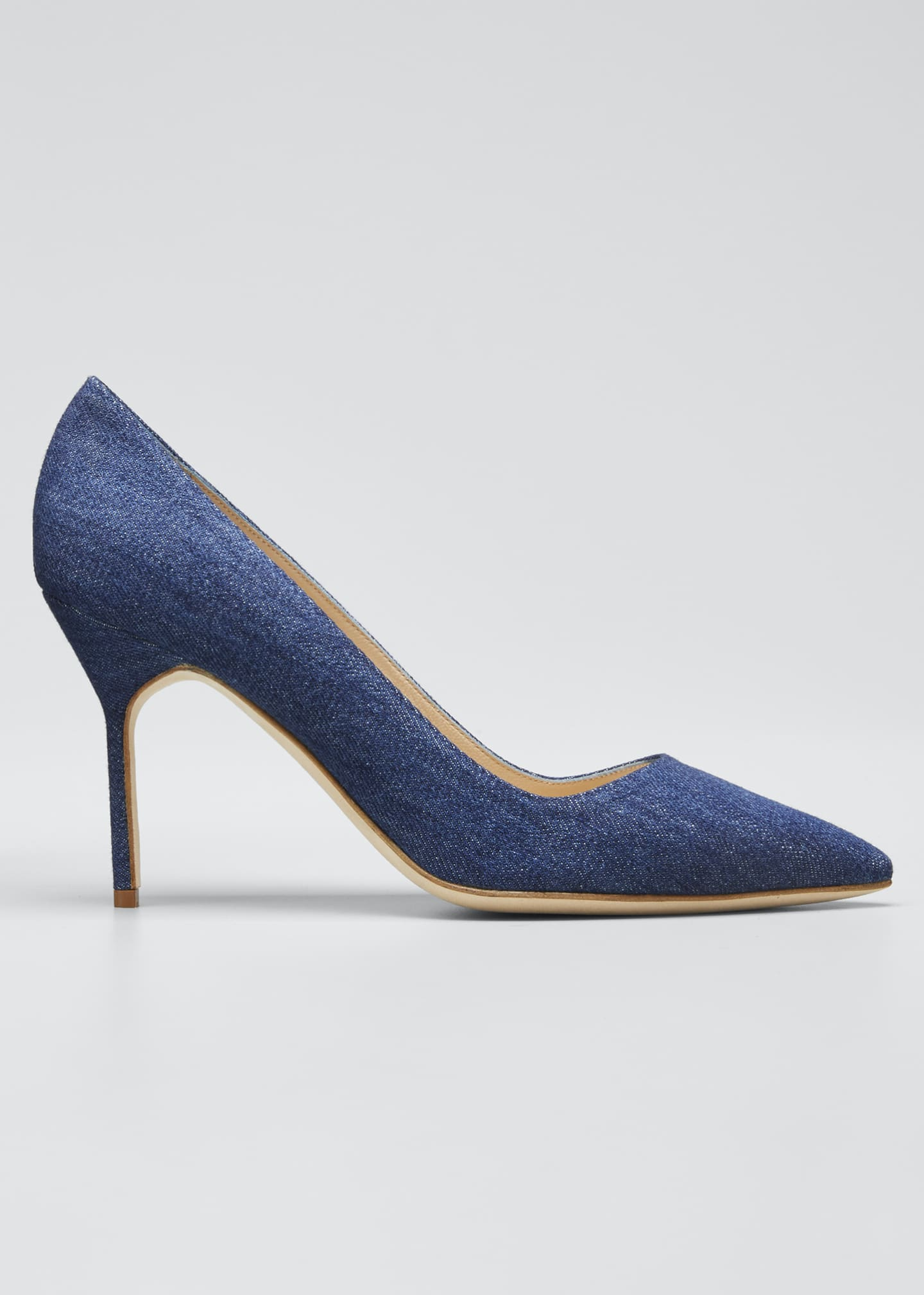 Manolo Blahnik BB 90mm Multi-Woven Leather Pumps