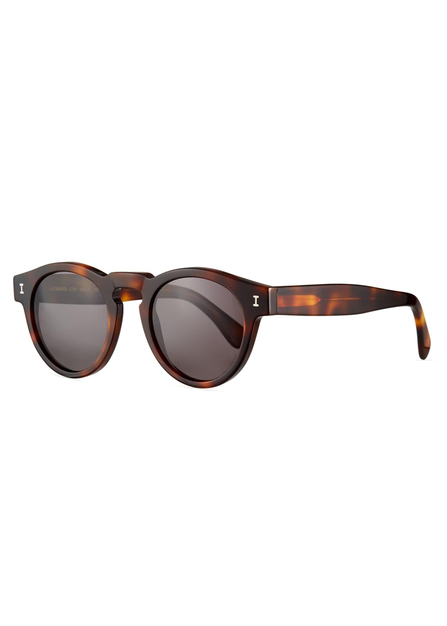 Illesteva Leonard Round Acetate Sunglasses