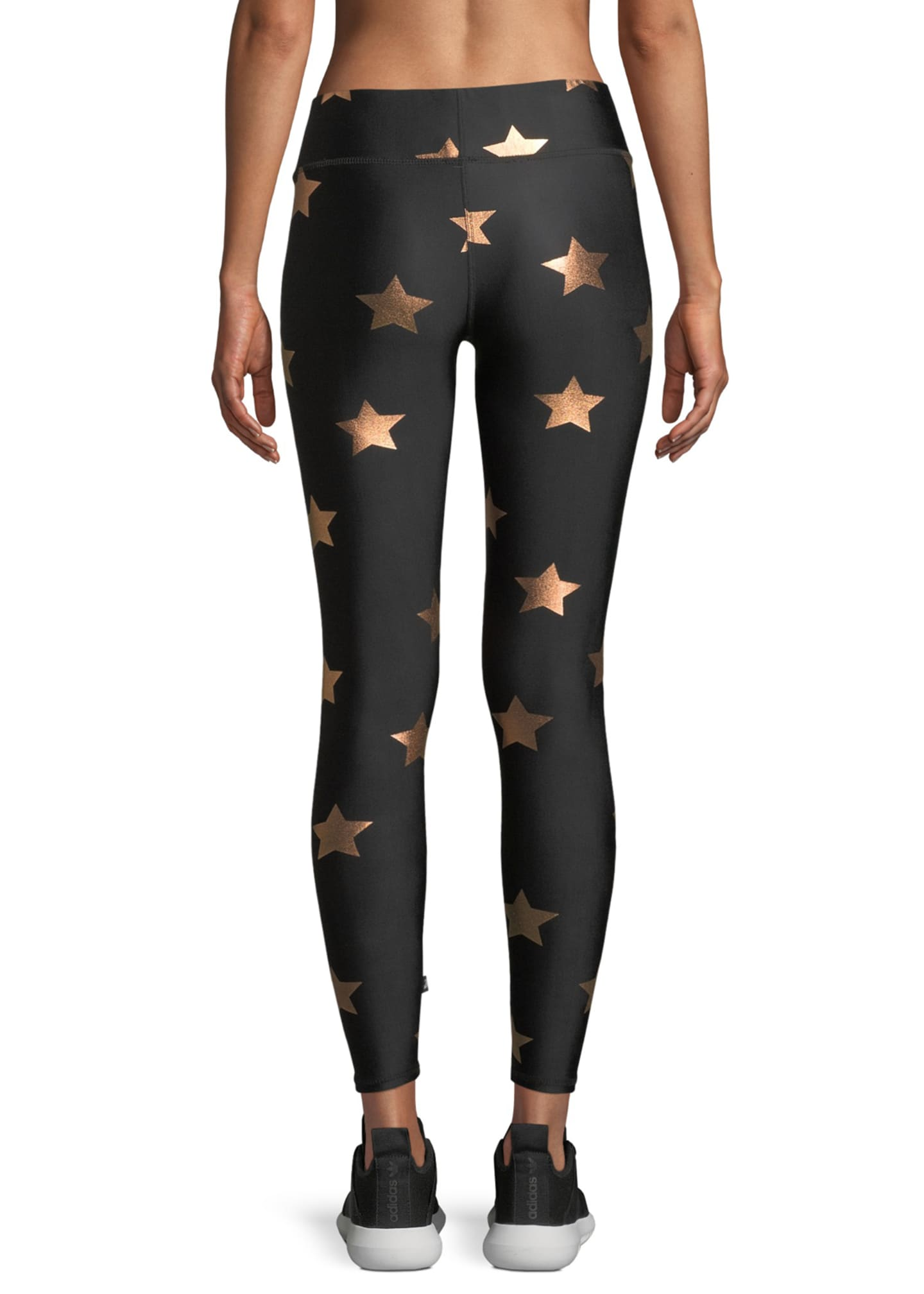 Image 2 of 4: Star Foil Printed Tall Band Performance Leggings