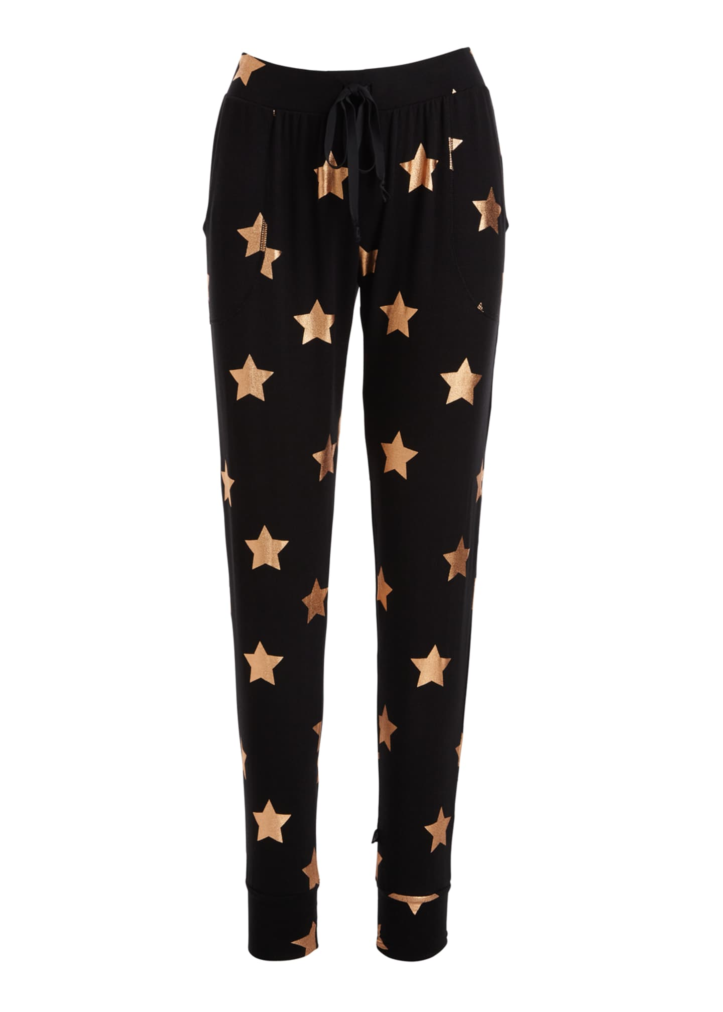Image 4 of 4: Star Foil Printed Tall Band Performance Leggings