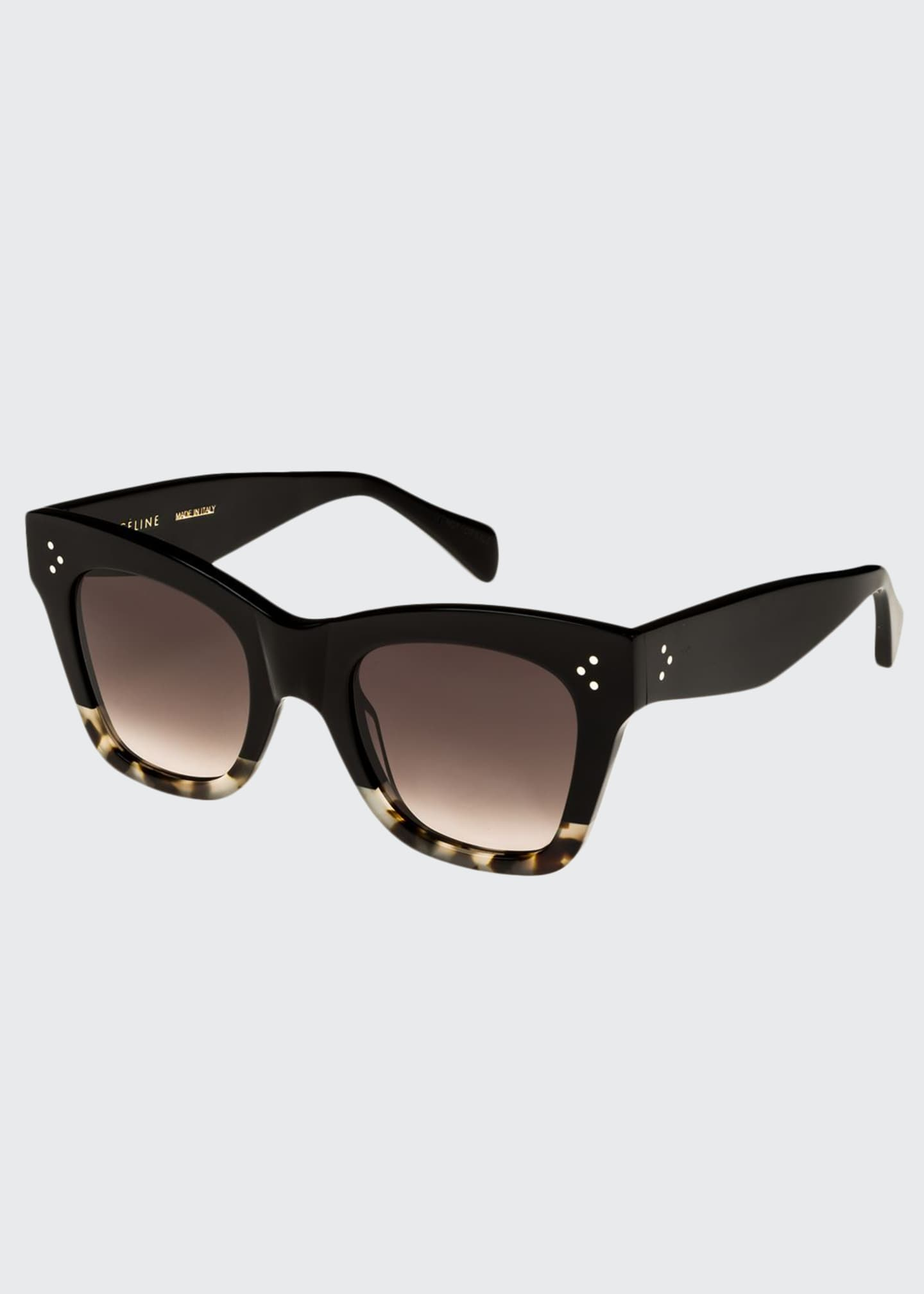 Celine Two-Tone Gradient Cat-Eye Sunglasses, Black