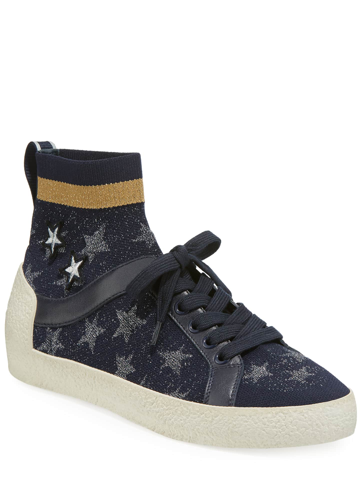Ash Ninja Star-Sock Lace-Up Sneakers