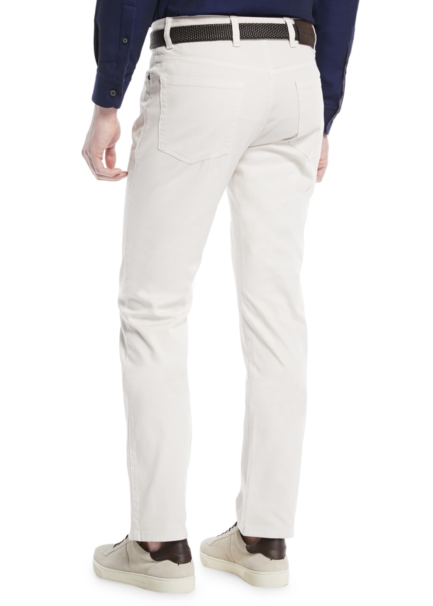Image 2 of 3: Cotton Canvas Regular-Fit Chino Pants, White