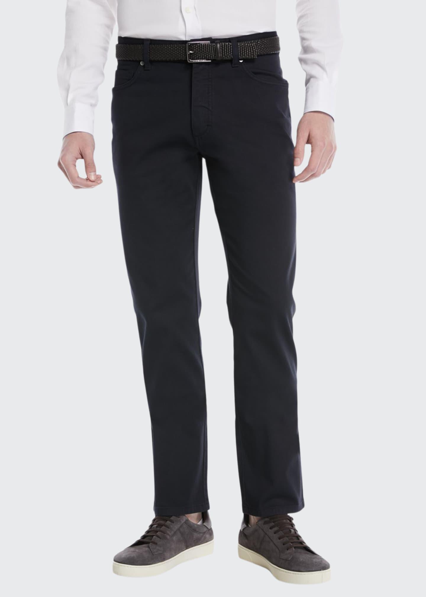 Ermenegildo Zegna Cotton Canvas Chino Pants, Navy