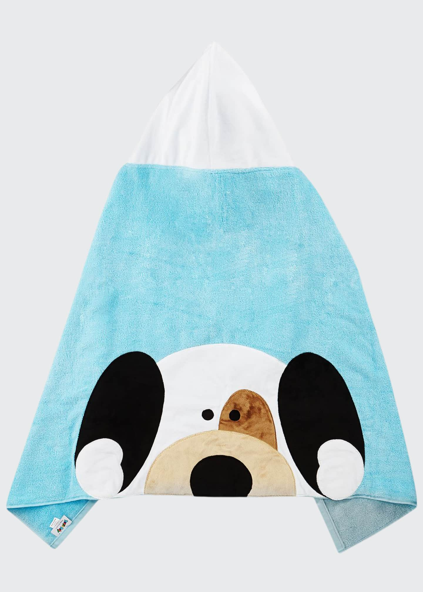 Image 1 of 2: Peek-A-Boo Hooded Towel, Blue