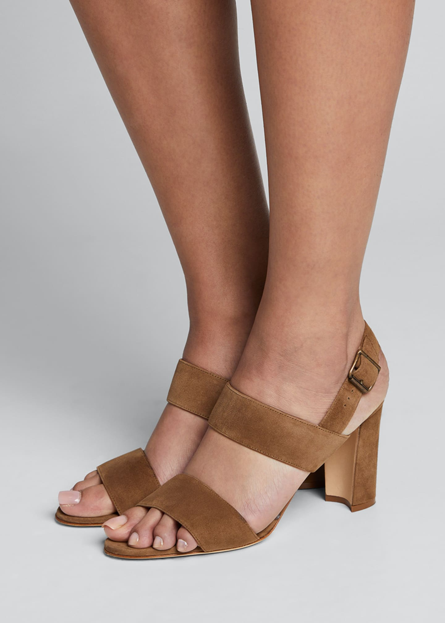 Image 2 of 5: Khan Suede 90mm Sandals