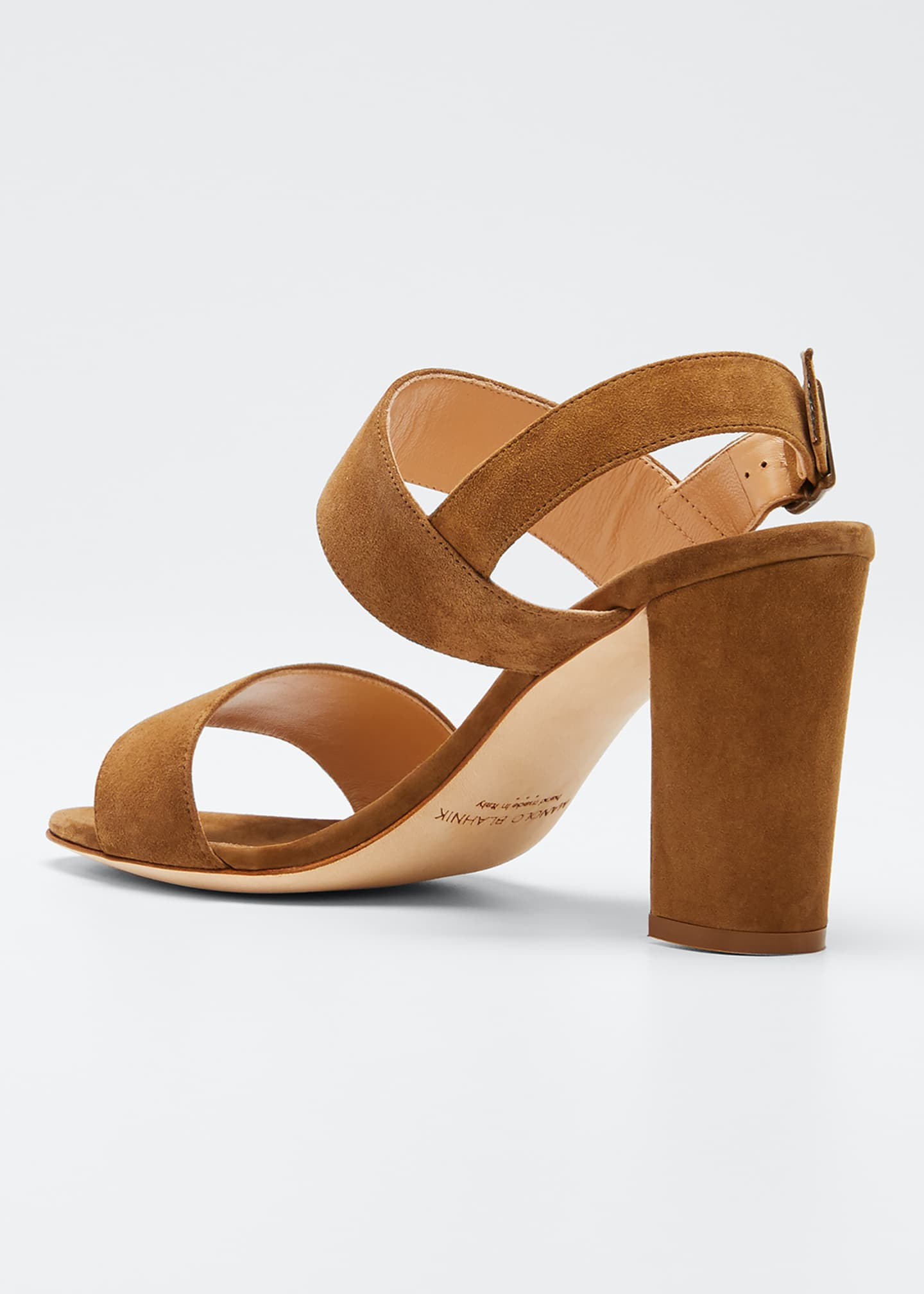 Image 4 of 5: Khan Suede 90mm Sandals