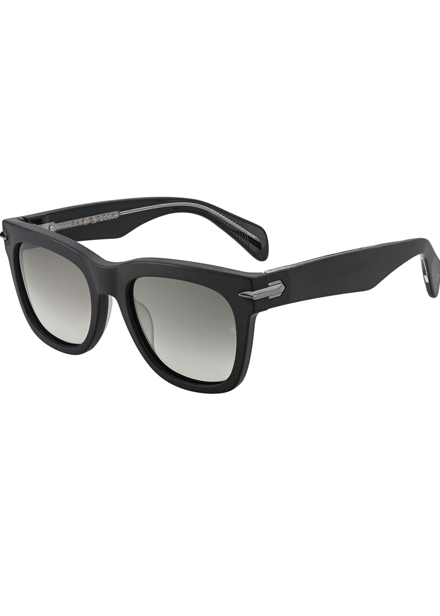 Rag & Bone Polarized Round Acetate Sunglasses w/