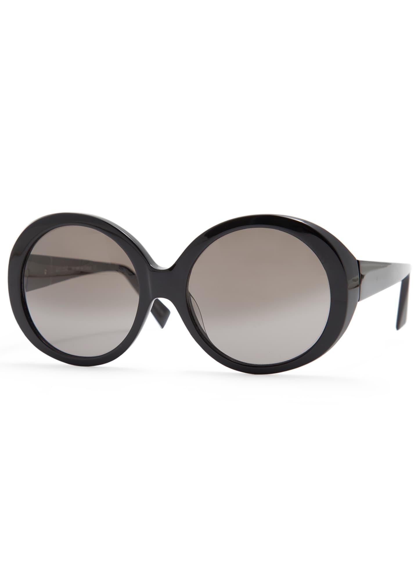 Alain Mikli Iris Oval Acetate Sunglasses