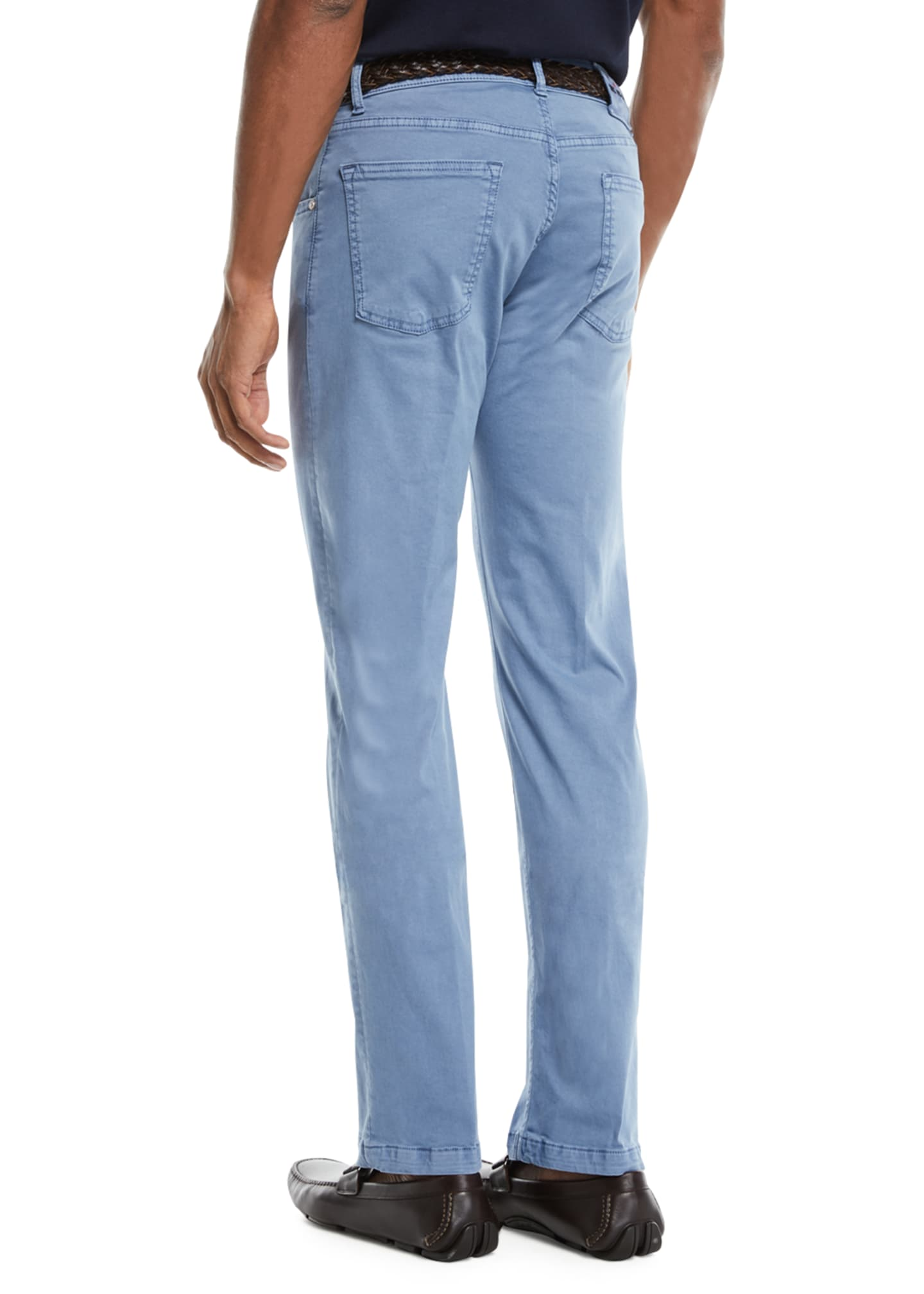 Image 2 of 3: Men's Straight-Leg Twill Pants