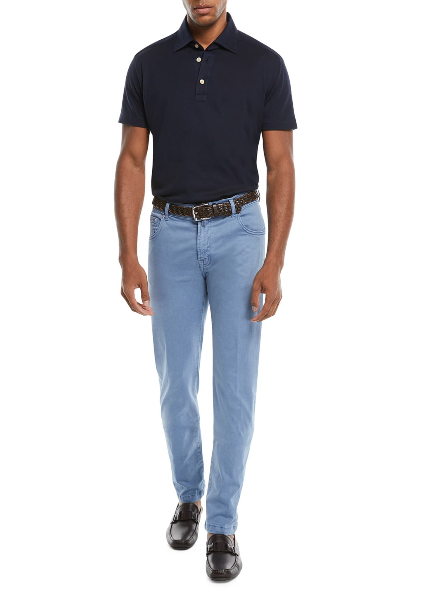 Image 3 of 3: Men's Straight-Leg Twill Pants